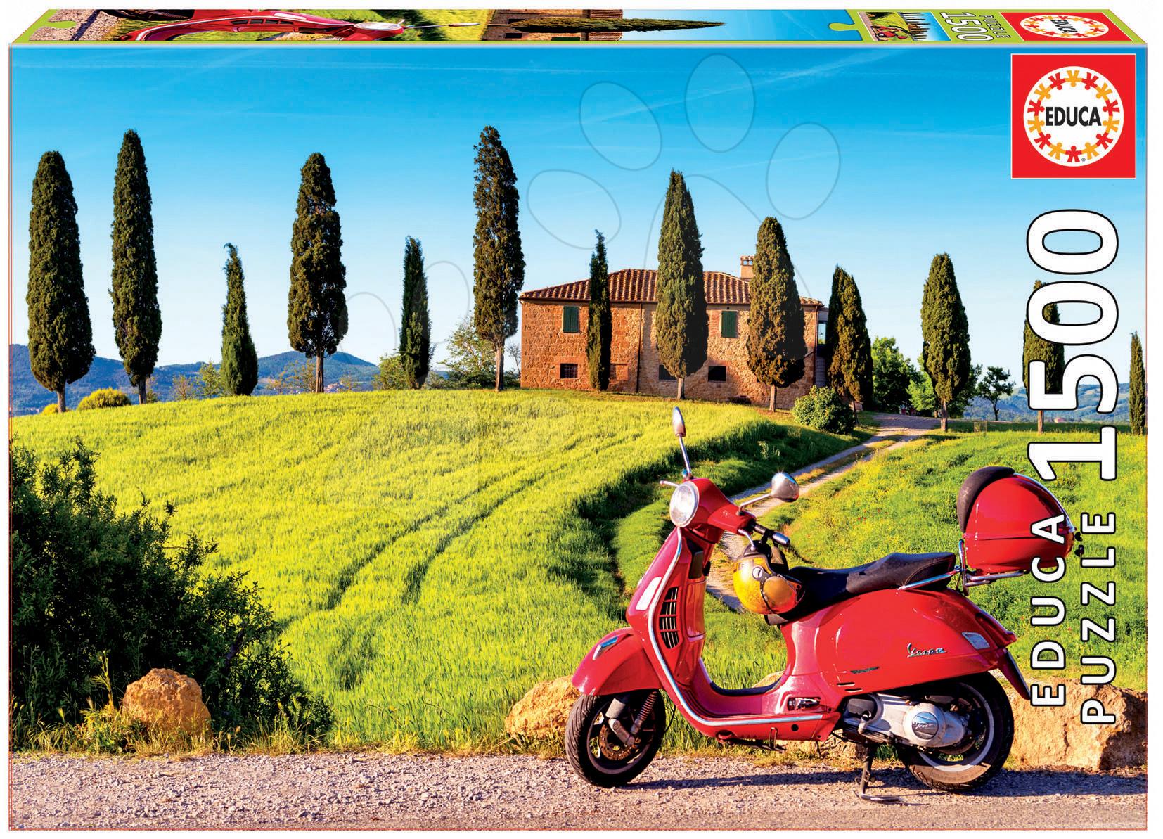 Puzzle Genuine Scooter in Toscana Educa 1500 dílů od 11 let