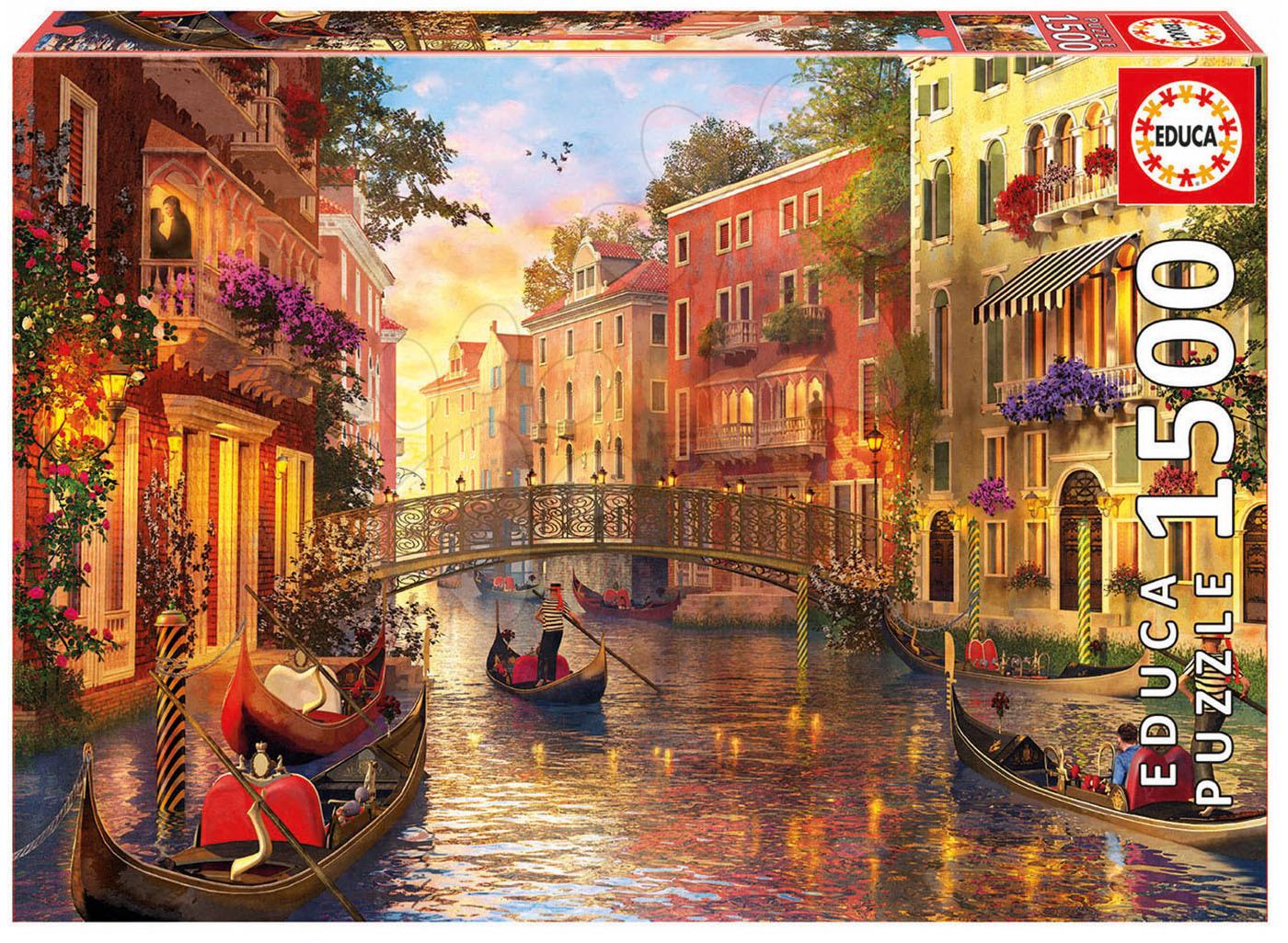 Educa puzzle Genuine Sunset in Venice 1500 dielov 17124