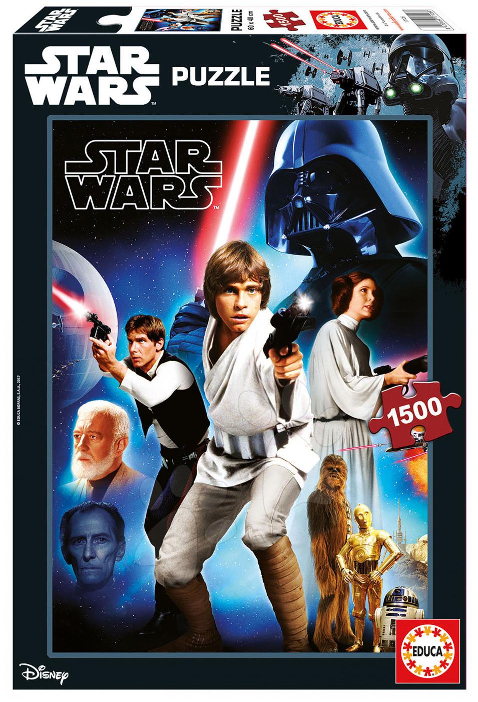 Puzzle Star Wars 40 Anniversary Epizoda 4 - Nová naděje Educa 1500 dílů od 11 let