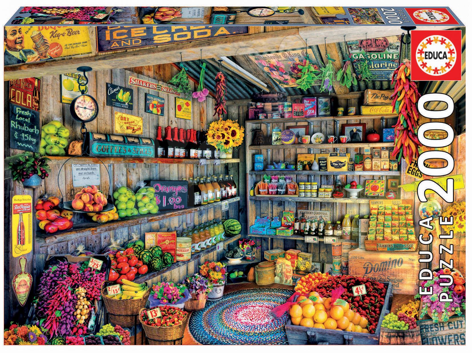 Puzzle Genuine Grocery Shop Educa 2000 dílů od 11 let