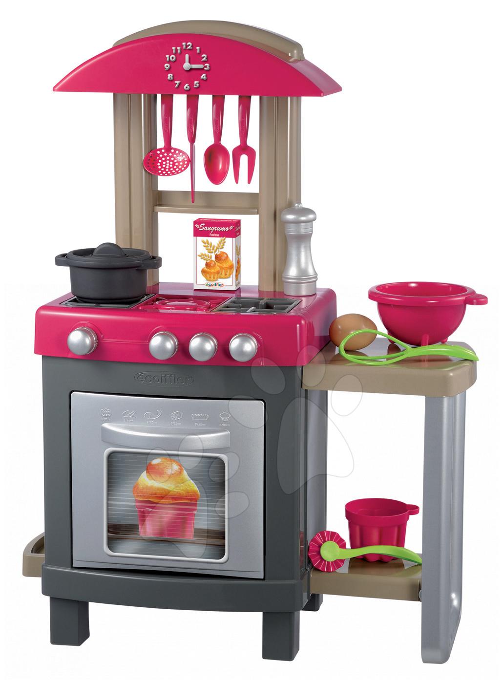 PRO Cook kuchyňka s hodinami Écoiffier 15 doplňků od 18 měsíců