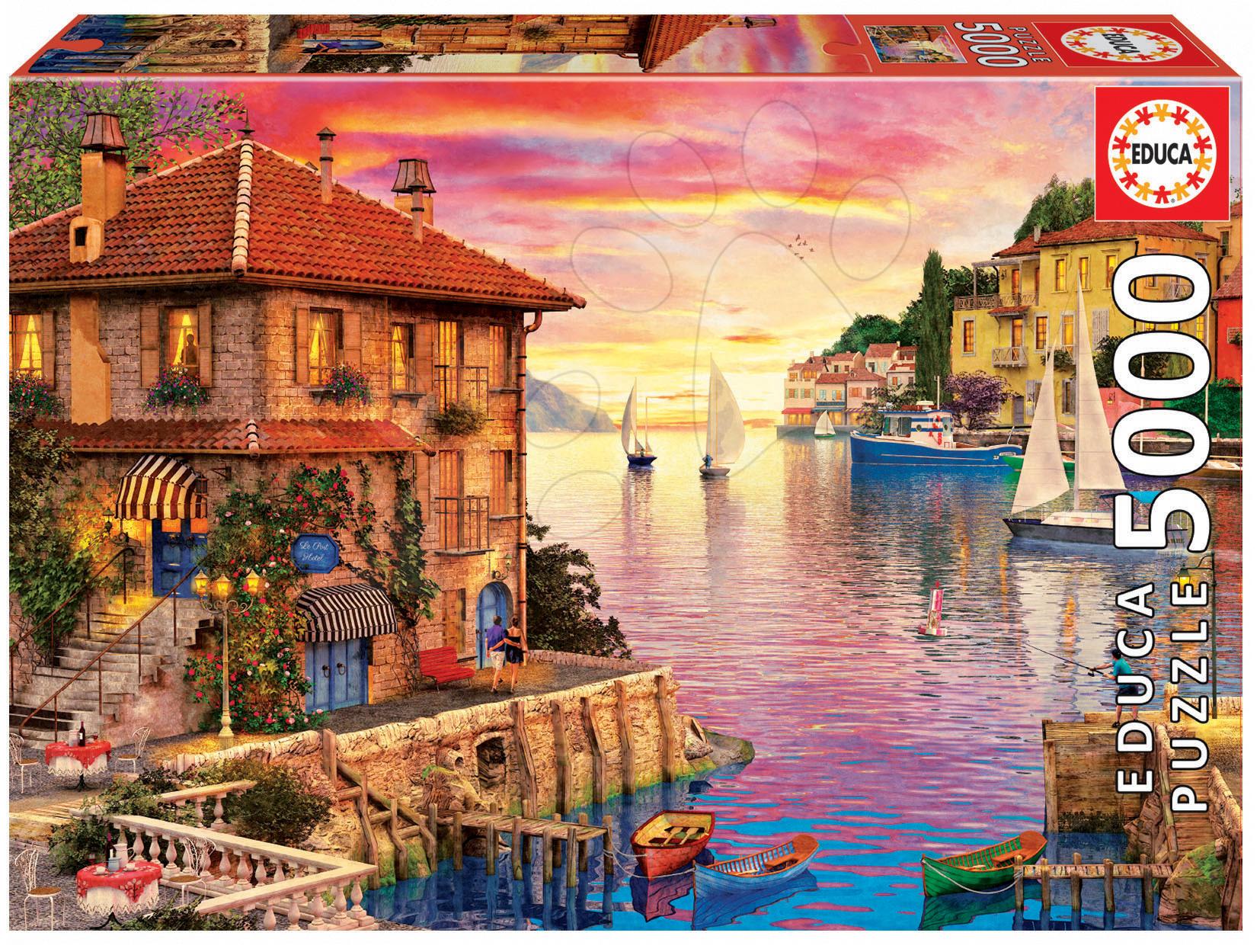 Puzzle Genuine Středomořský přístav, Dominic Davison Educa 5000 dílů od 11 let