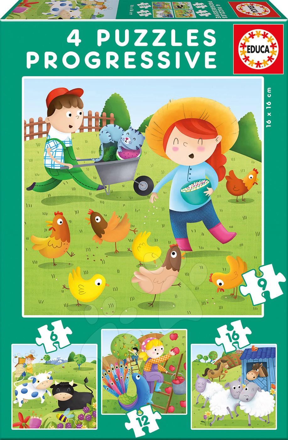 Educa detské puzzle Zvieratká na farme 17145