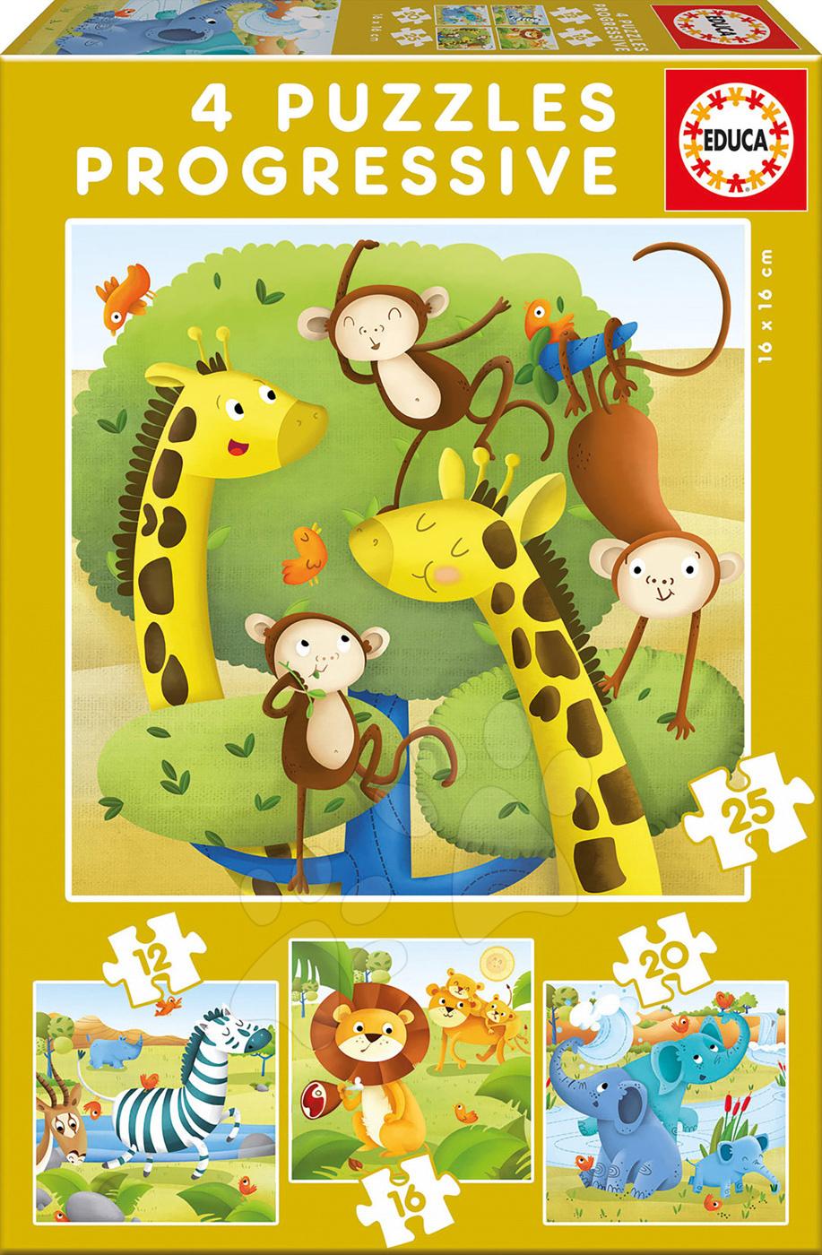 Puzzle Záchranáři Zvířátka Educa progresivní 12-16-20-25 dílů
