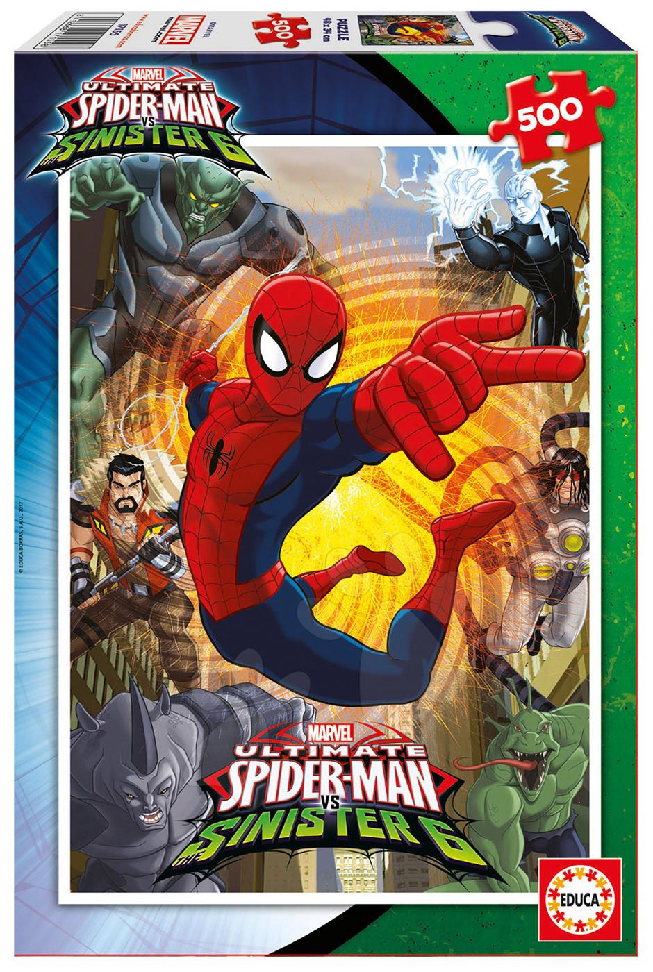 Puzzle Marvel Ultimate Spiderman vs. The Sinister 6 Educa 500 dílů od 11 let