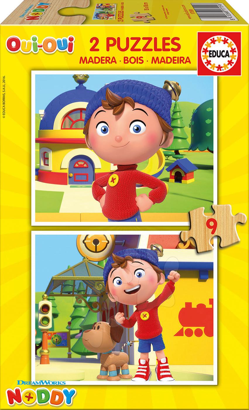 Dřevěné puzzle Noddy Educa 2x9 dílů