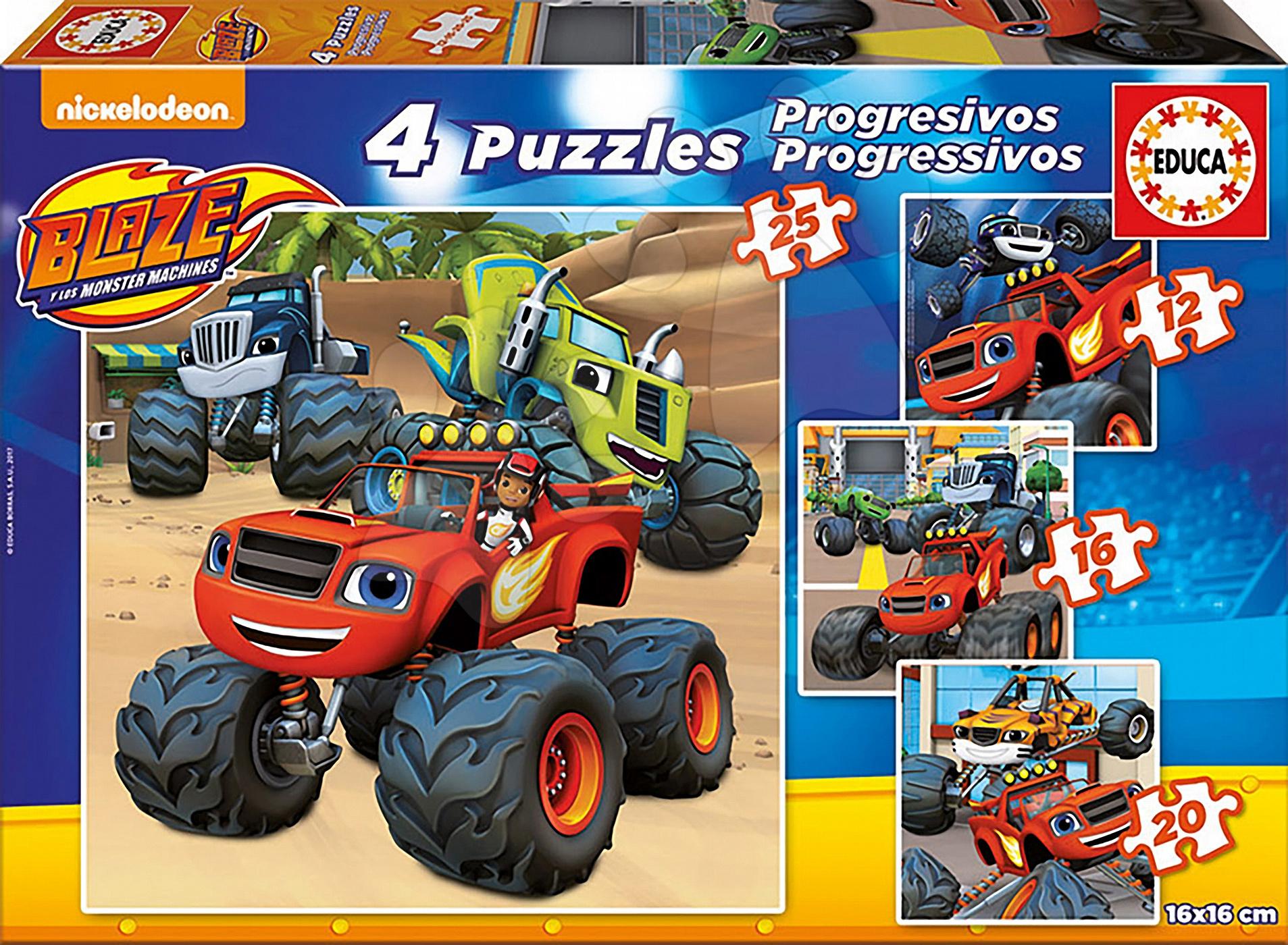 Puzzle Blaze Educa progresivní 12-16-20-25 dílů od 4 let
