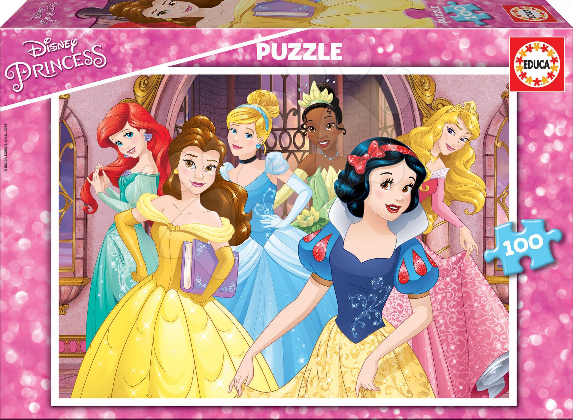 Educa detské puzzle Princezné Disney 100 dielov 17167