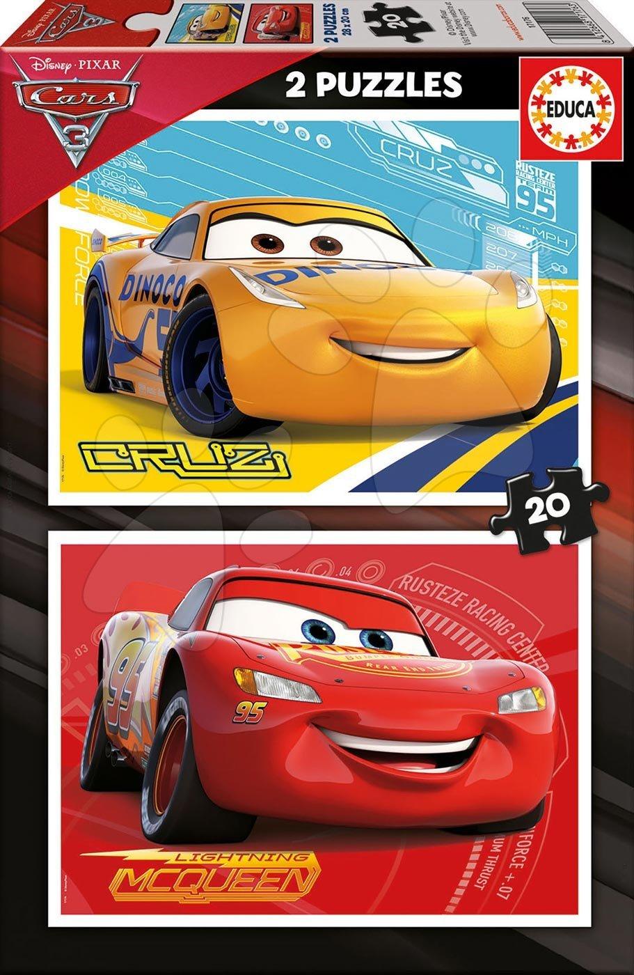 Puzzle Cars3 Educa 2 x 20 dílů