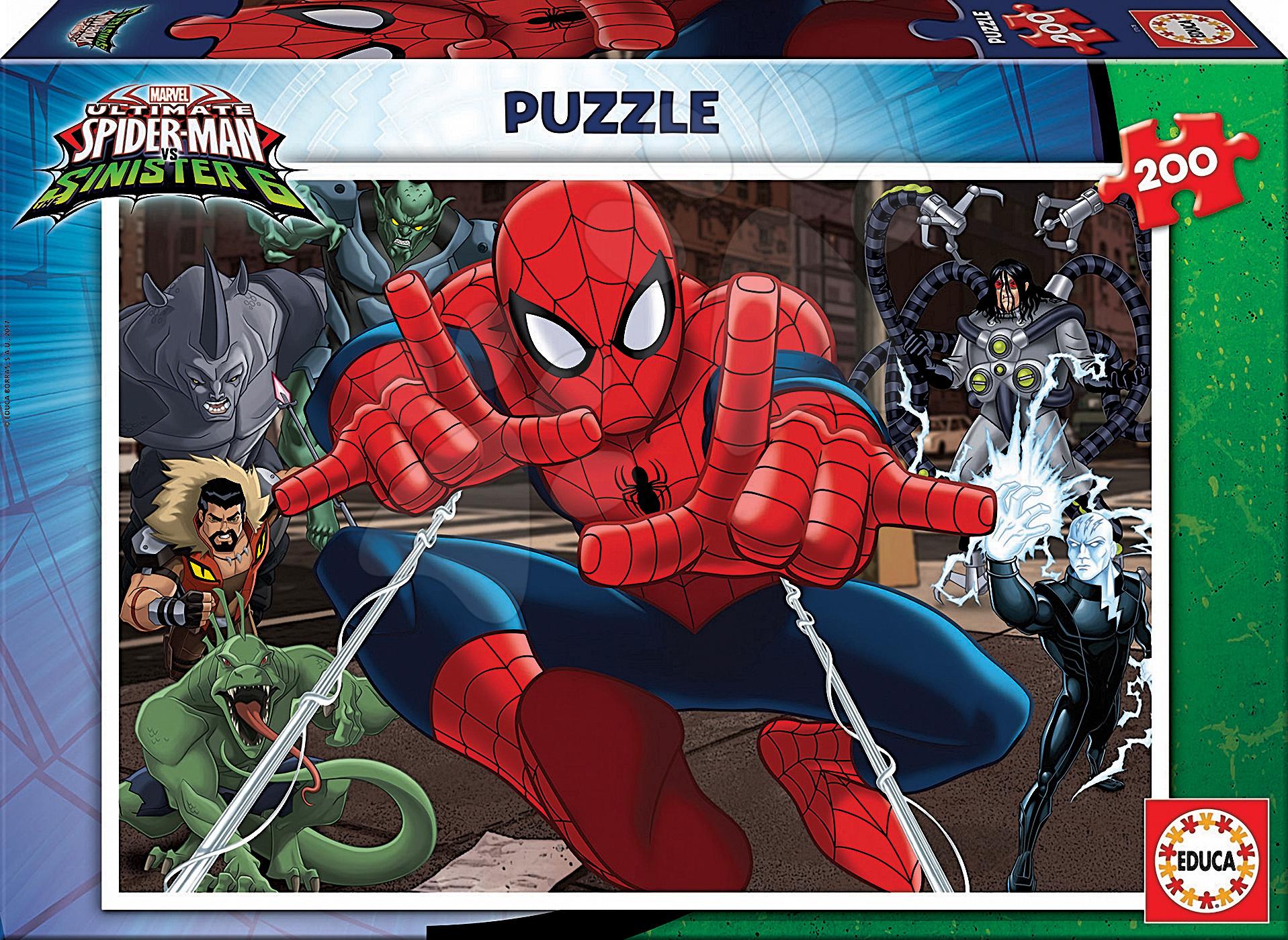 Puzzle Ultimate Spiderman vs. Sinister Educa 200 dílů od 8 let