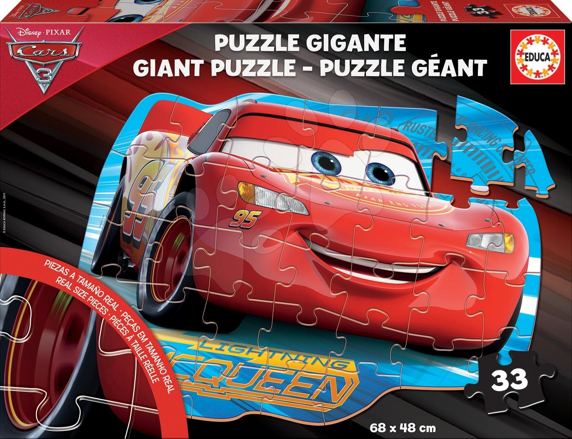 Podlahové puzzle Cars3 Educa Giant 33 dílů