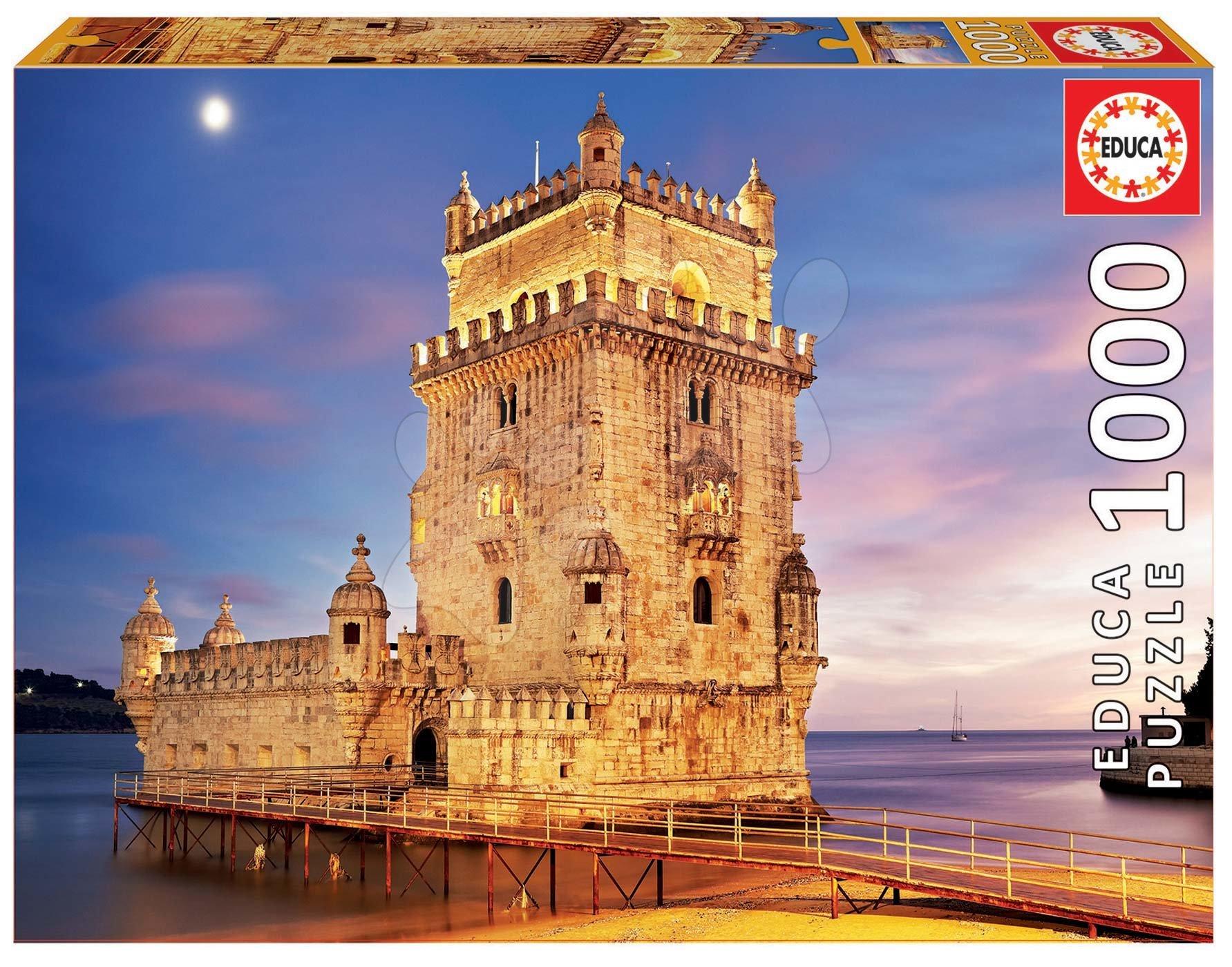 Puzzle Belem Tower, Lisbon Educa 1000 piese cu lipici Fix de la 11 ani