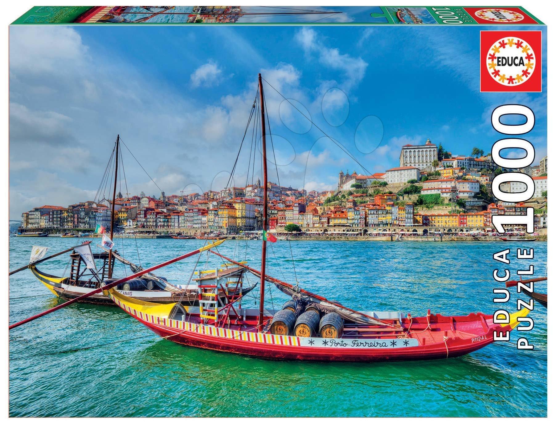 Puzzle Rabelos Boats Educa 1000 piese cu lipici Fix de la 11 ani