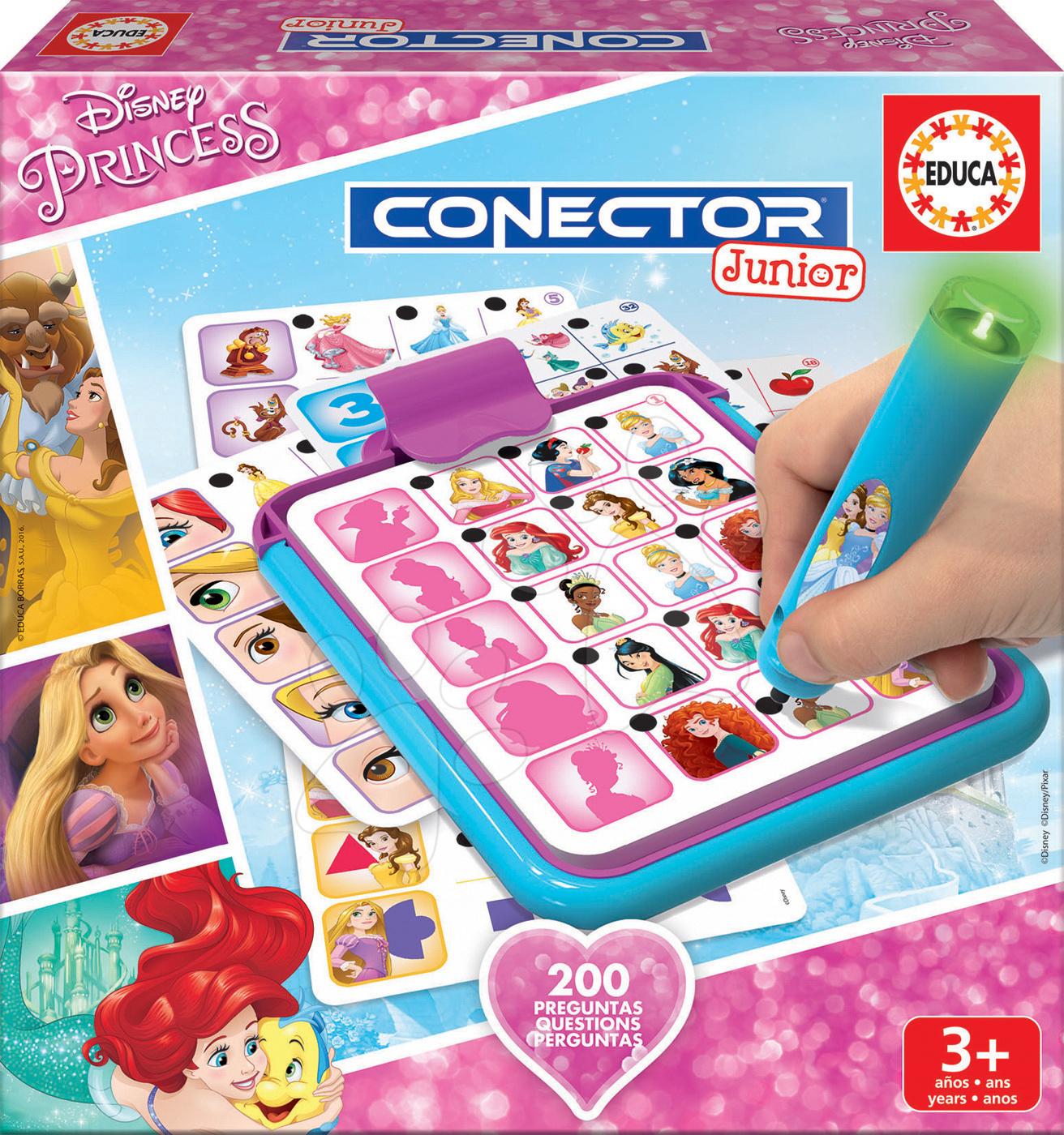 53e4c26b1 Spoločenská hra Disney Princezné Conector Junior Educa 40 kariet a 200  otázok s inteligentným perom v