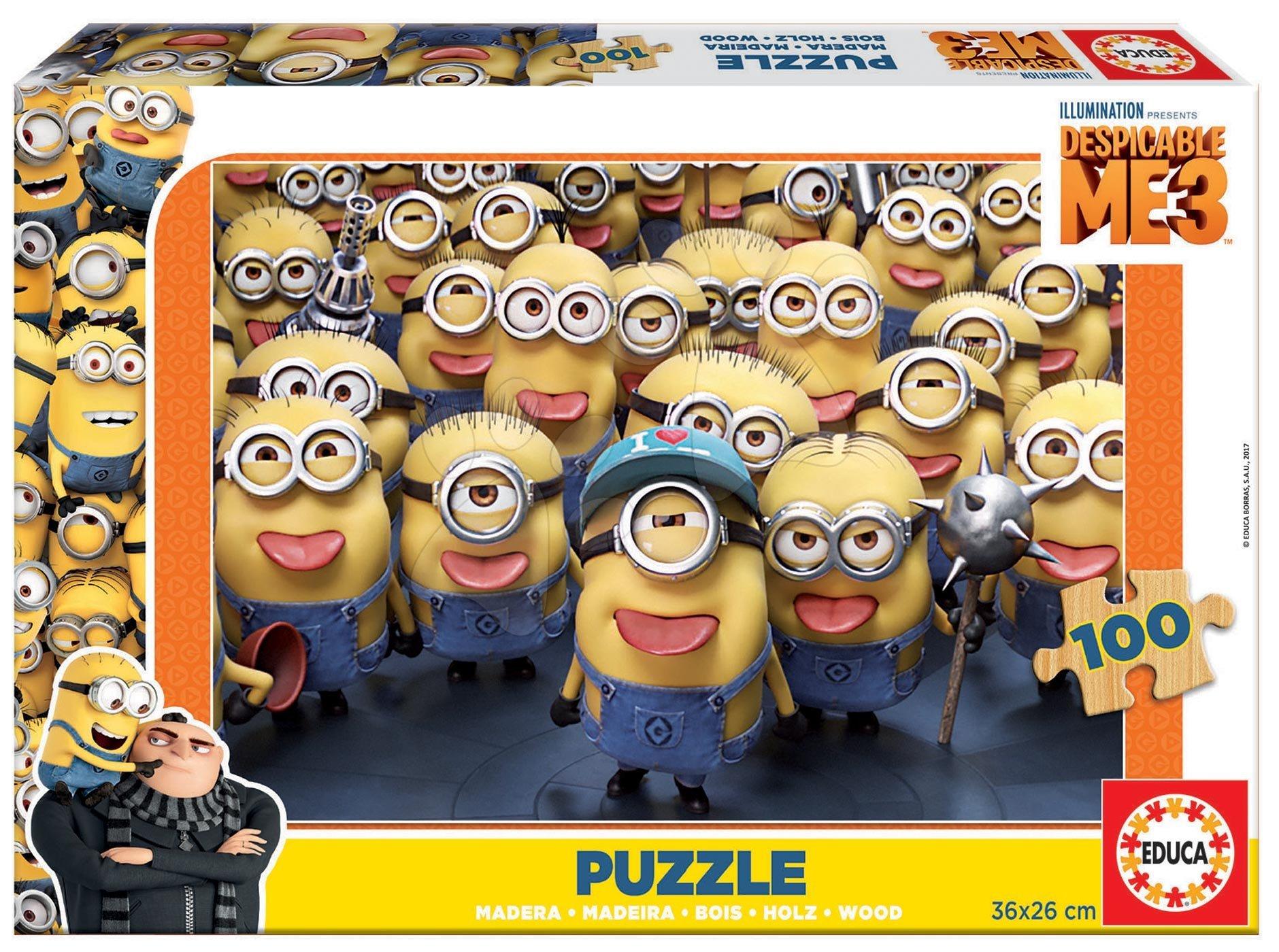 Dřevěné puzzle Minions Despicable Me 3 Educa 100 dílů od 6 let