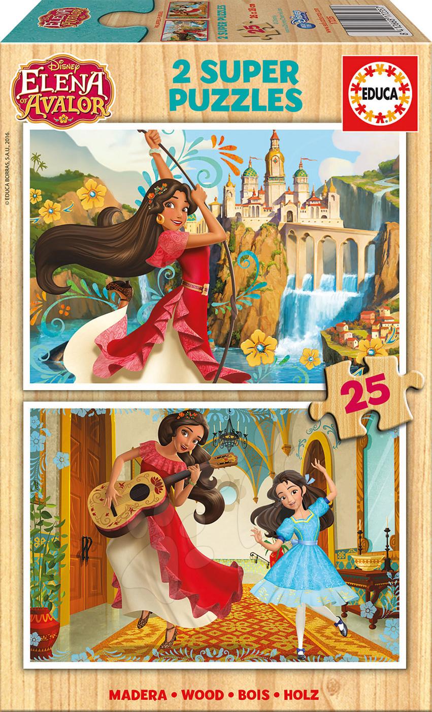 Dřevěné puzzle Elena z Avaloru Disney Educa 2x25 dílů od 4 let