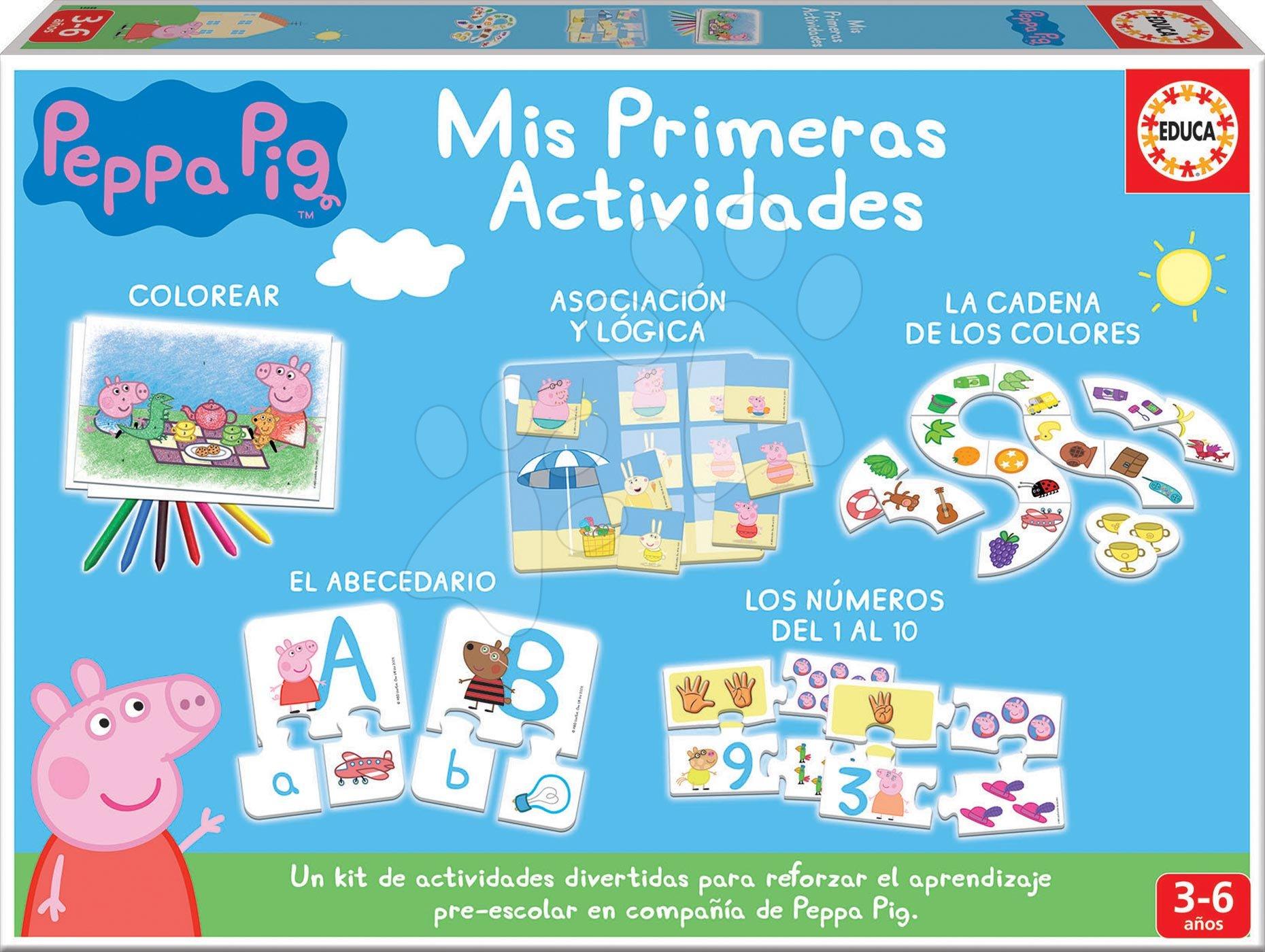 Náučné hry pre najmenších Peppa Pig Educa 5 rôznych náučných aktivít od 3-6 rokov