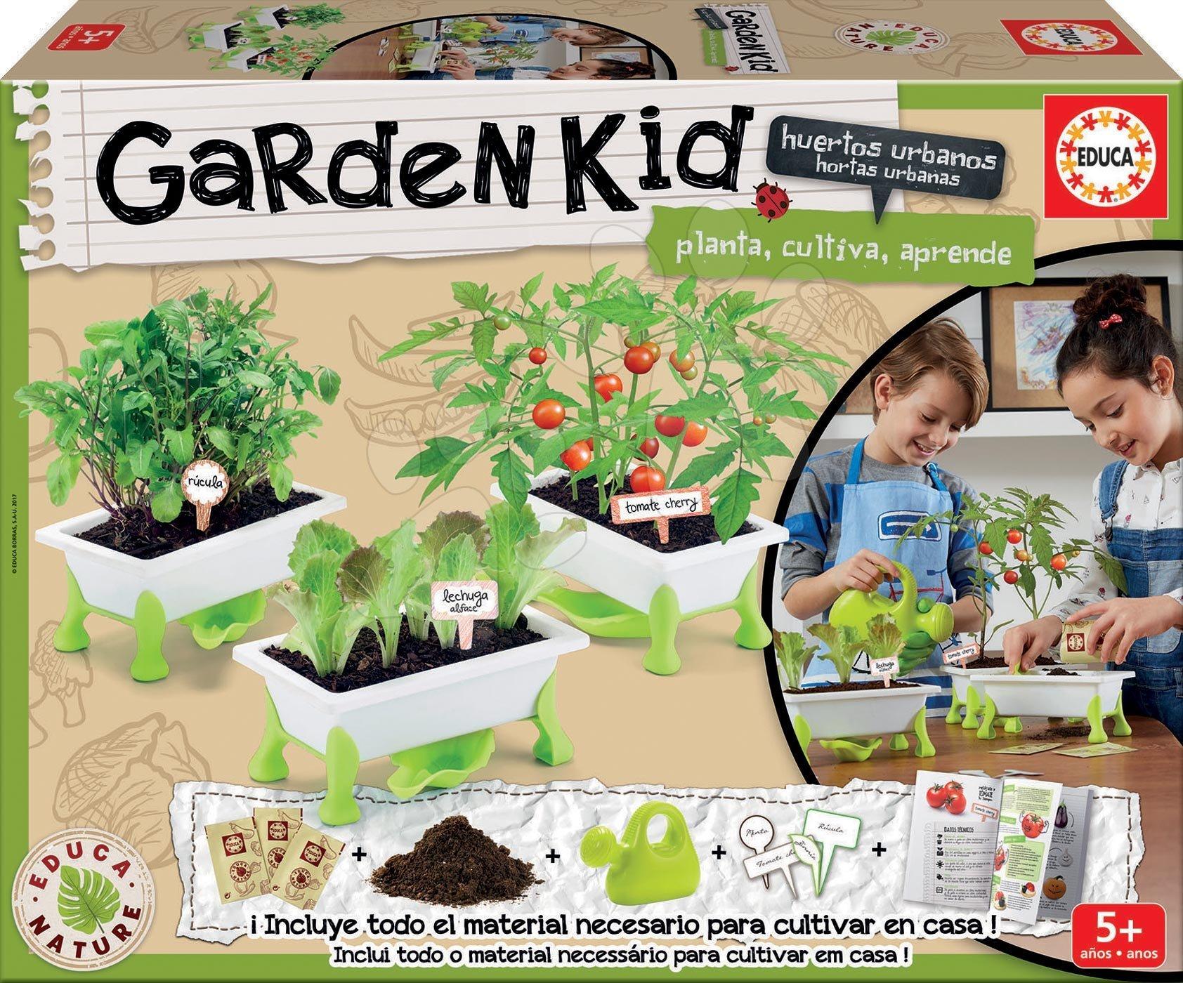 Kis Kertész - zöldségek Tomato-Lettuce-Rocket Educa Nature kertészeti tartozékokkal 5 évtől