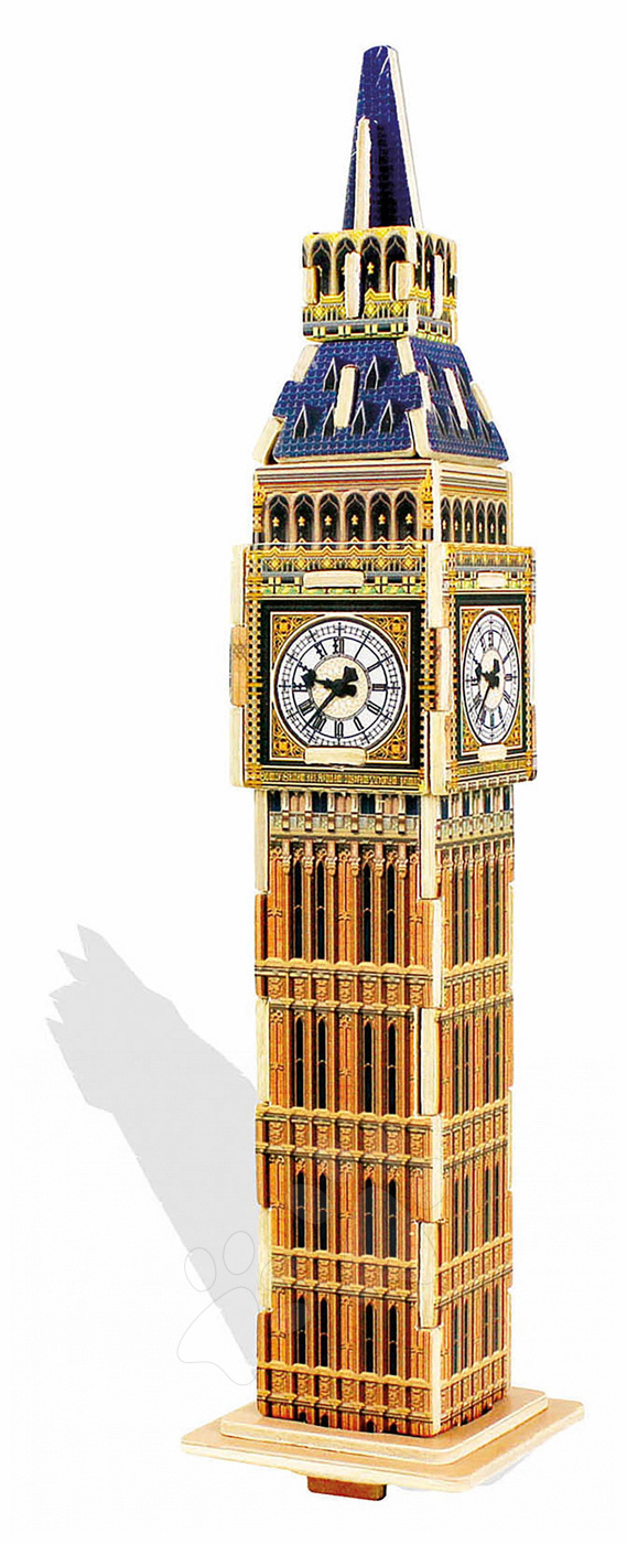 Dřevěné puzzle 3D Big Ben London Mini Monument Educa 24 dílků od 6 let