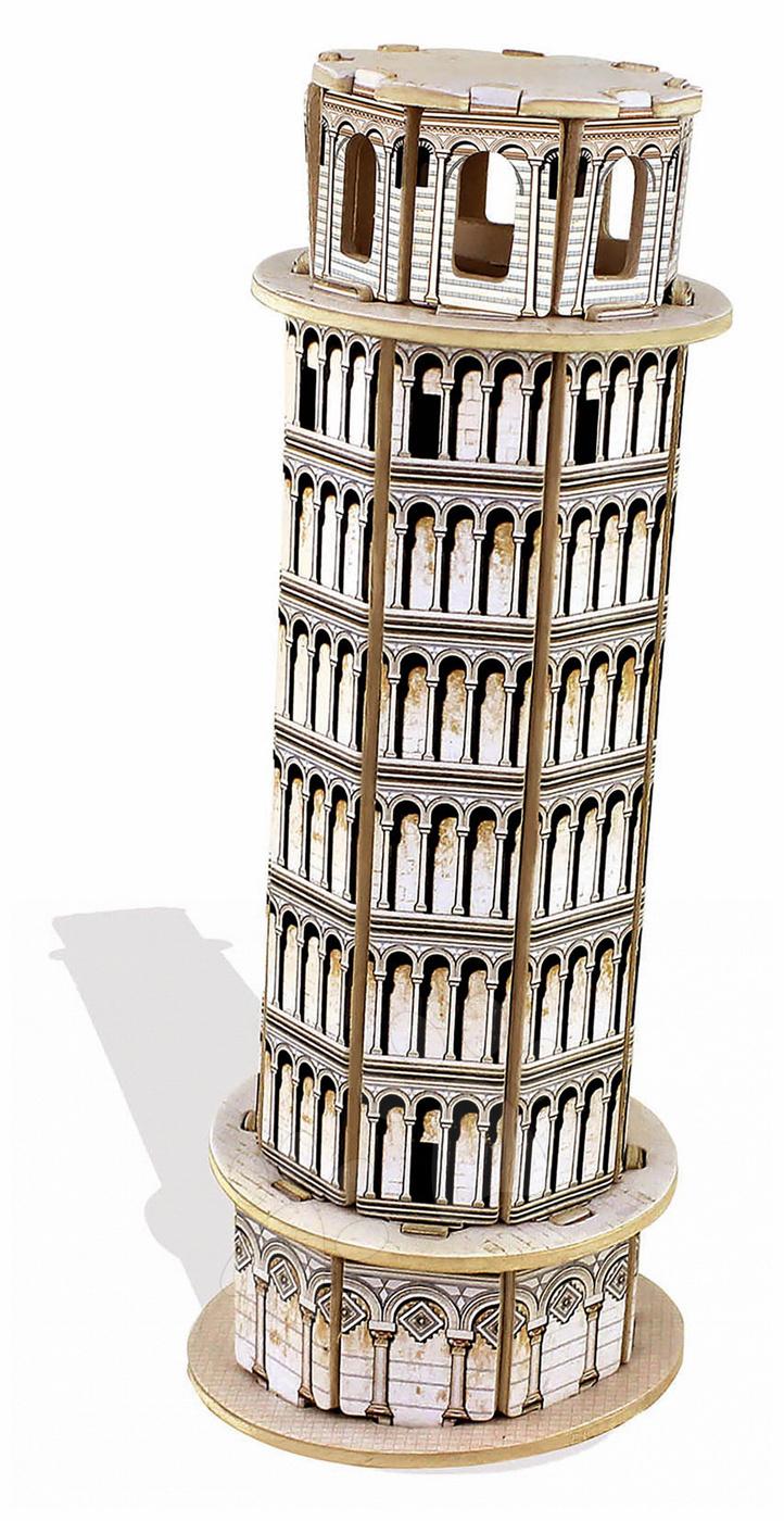 Dřevěné puzzle 3D Torre Pisa Mini Monument Educa 32 dílů od 6 let
