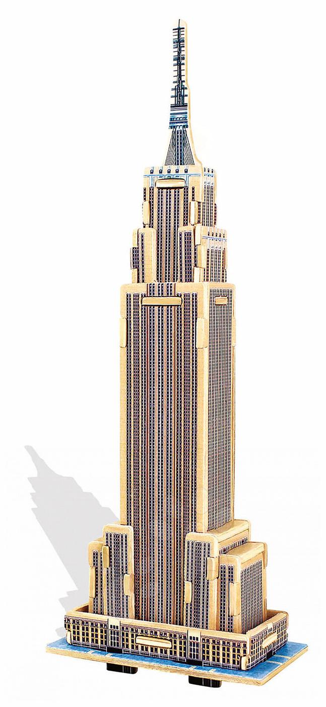 Dřevěné puzzle 3D Empire State Building Mini Monument Educa 34 dílů od 6 let
