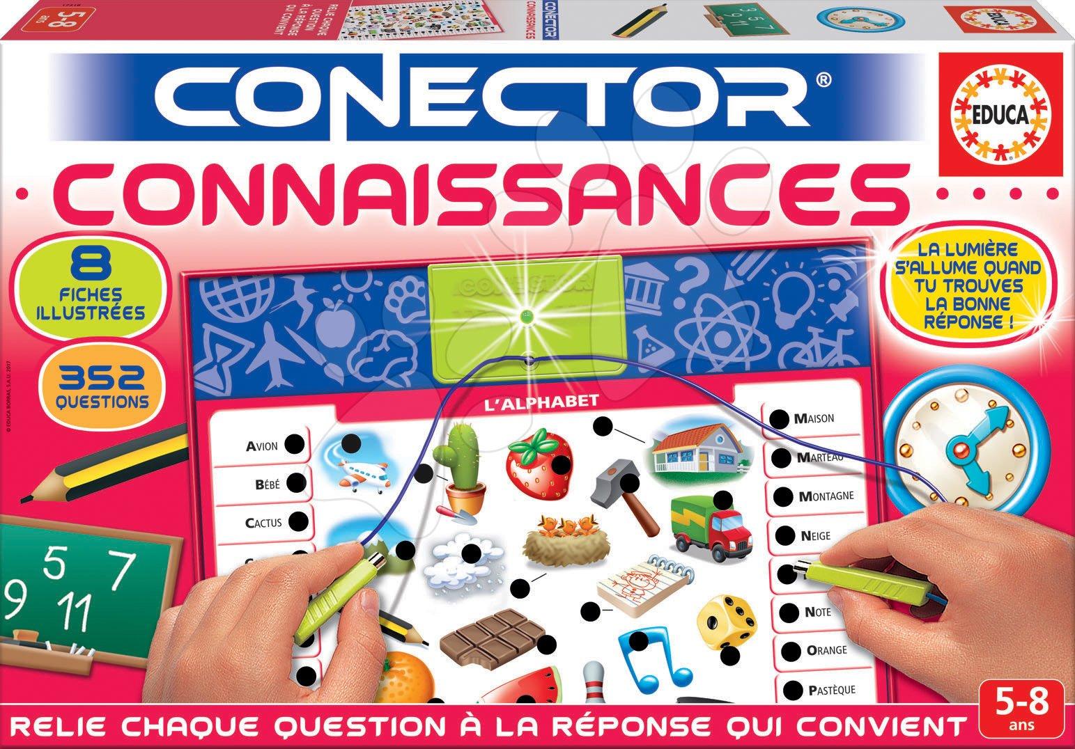 Společenská hra Conector Connaissances Educa francouzsky 352 otázek od 5 let