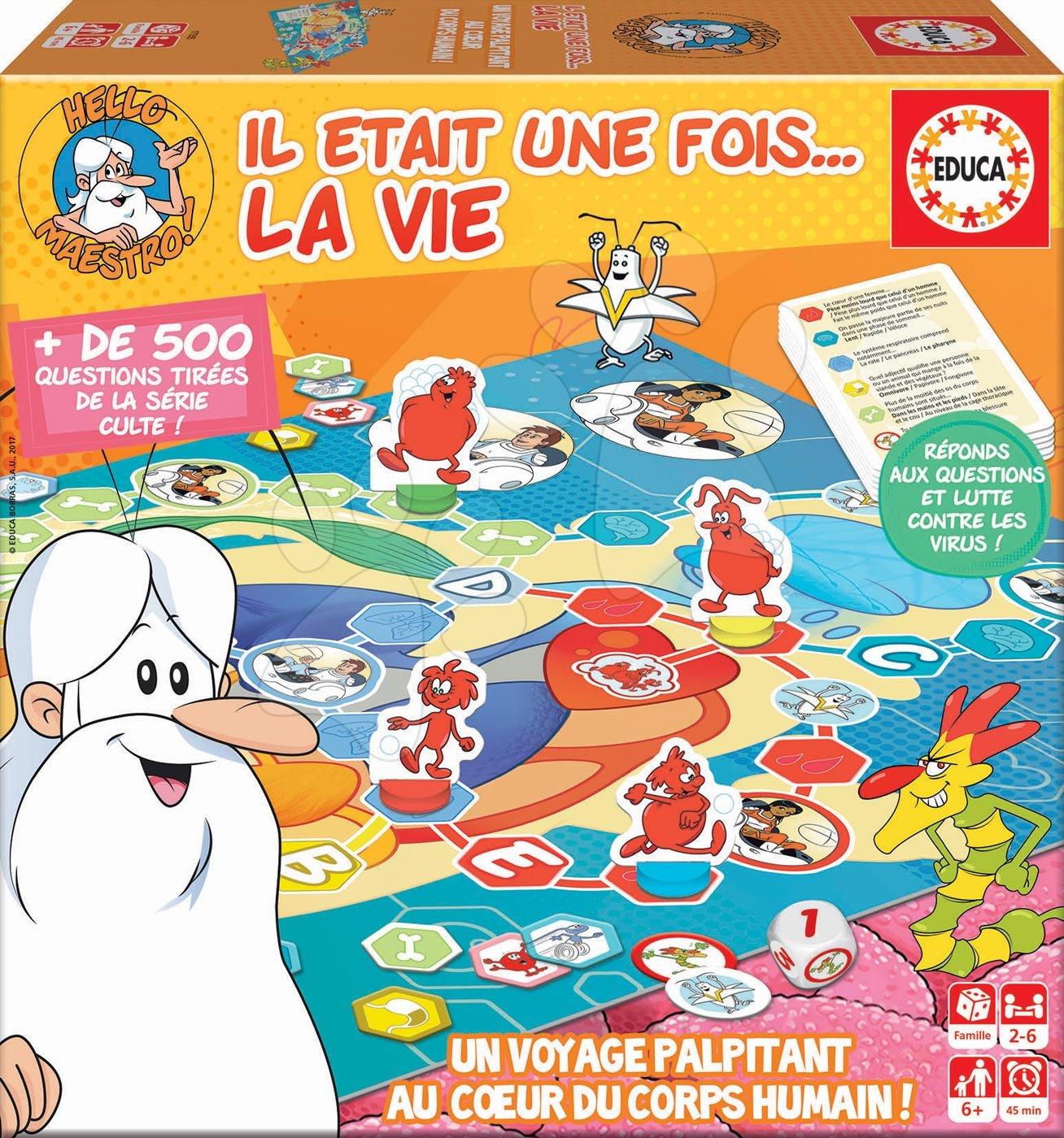 Spoločenská hra Hello Maestro La Vie-Le Jeu Educa pre 2-6 hráčov po francúzsky od 6 rokov