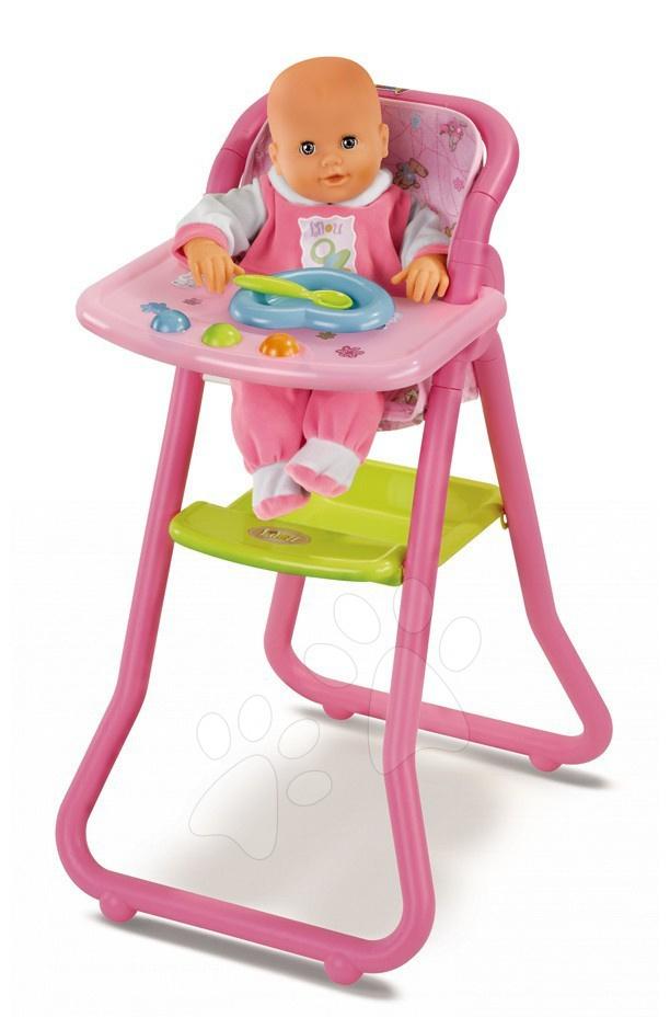 Jídelní židle Smoby pro 42 cm panenku s doplňky od 3 let