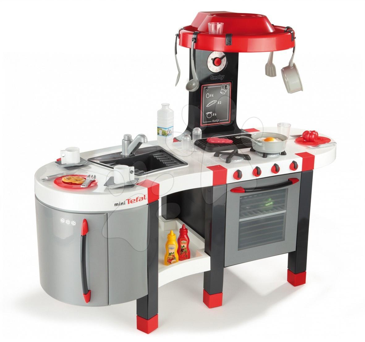Staré položky - Kuchyňka French Touch TEFAL Excellence Smoby červeno-bílá elektrická s džusem