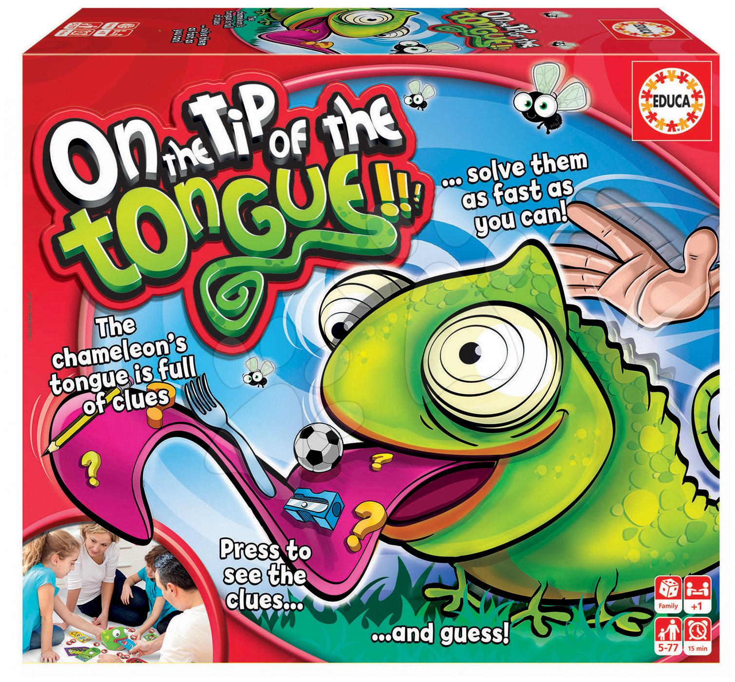 Společenská hra On the tip of the tongue Educa v angličtině od 5 let