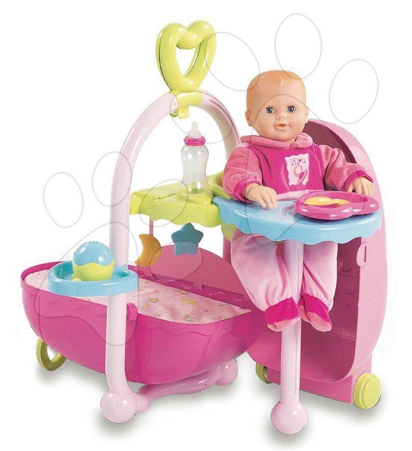 Staré položky - Baby Nurse domček pre bábiku Smoby v kufríku s doplnkami od 18 mes