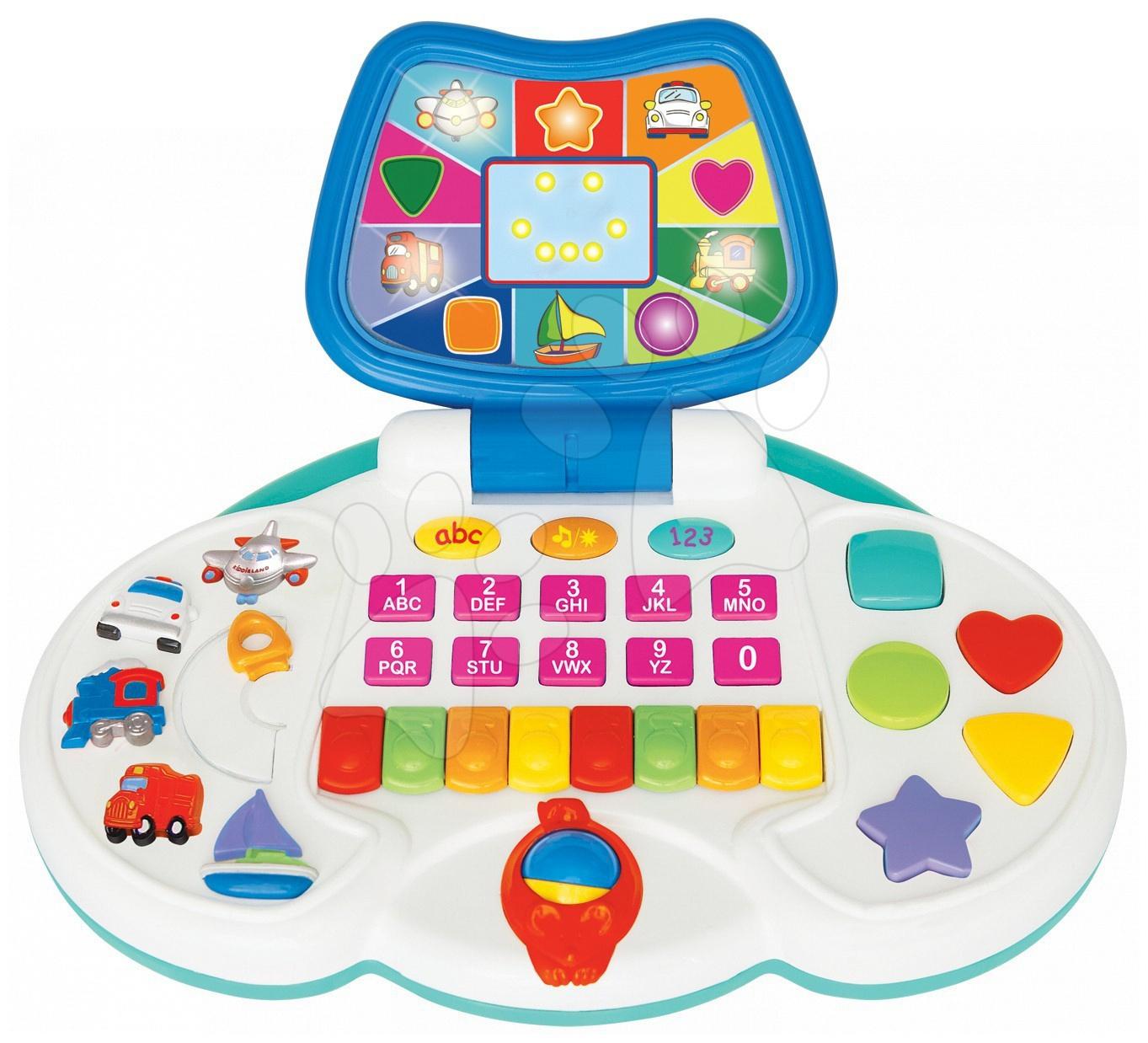 Activity interactive laptop Kiddieland se světlem a zvukem, od 18 měsíců
