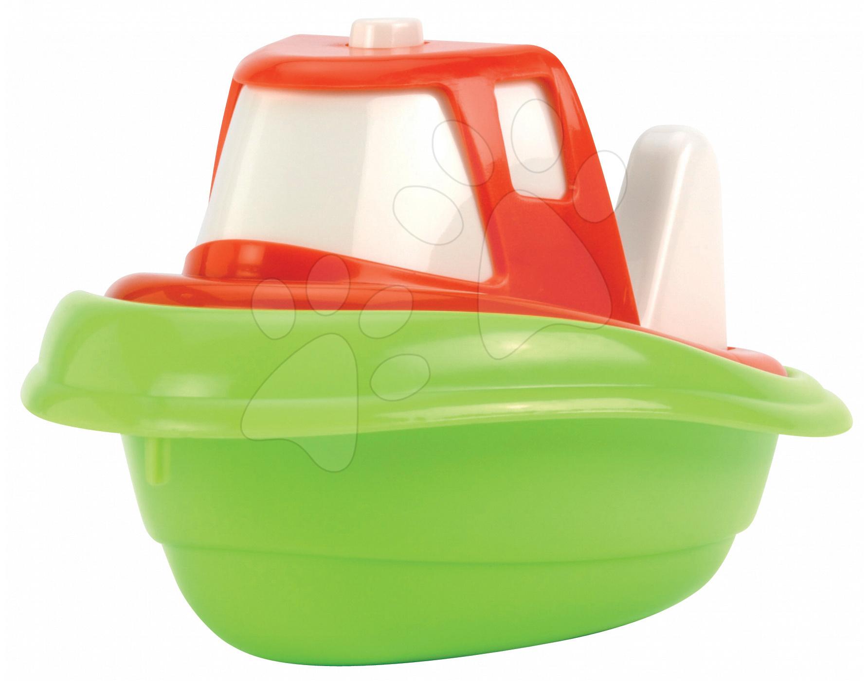 Loďky a člnky k vode - Čln do vody Maxi Écoiffier dĺžka 14 cm, červeno-zelený od 18 mes