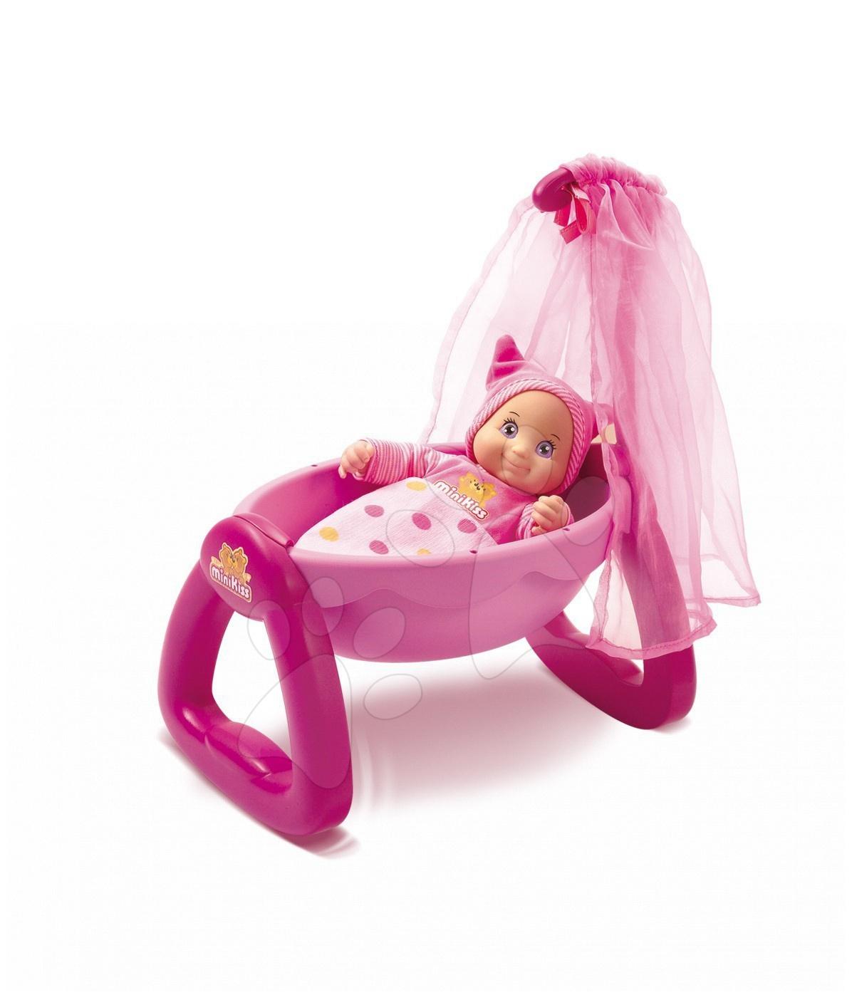 Kolíska Minikiss pre bábiku Smoby (27 cm) od 12 mes