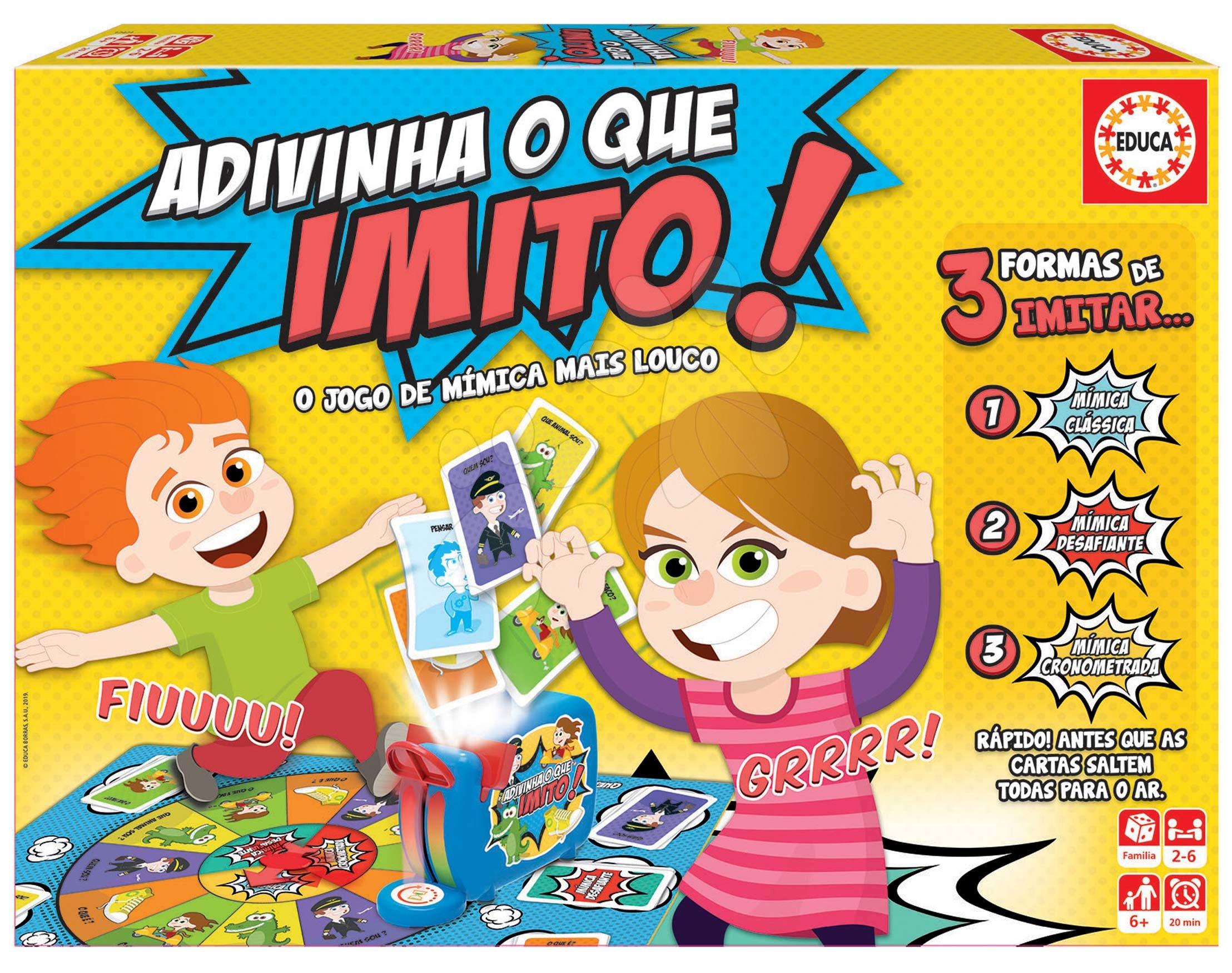 Társasjáték Adivina que imito! Educa spanyol nyelvű, 2-6 játékos részére 6 évtől