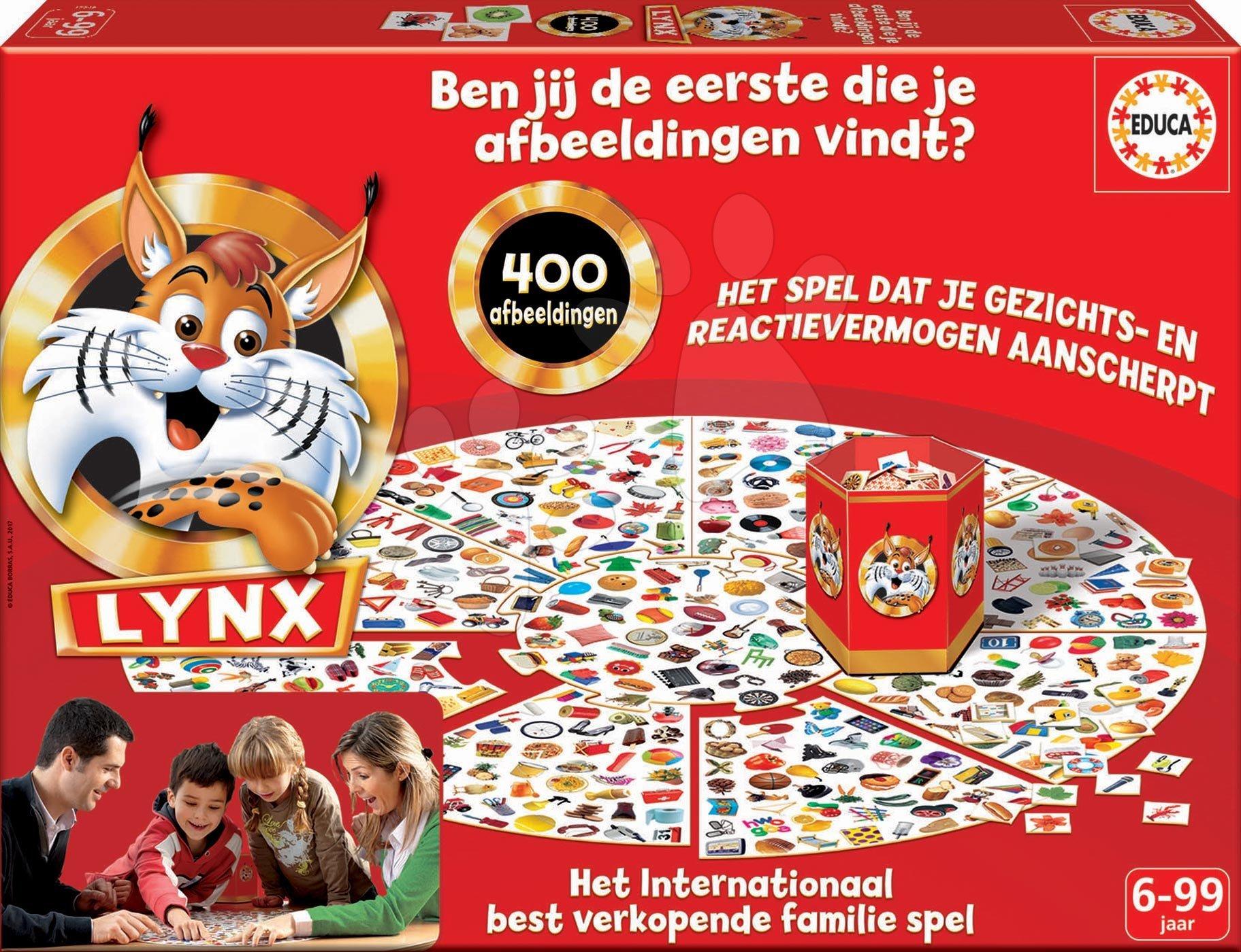 Spoločenská hra Lynx Rýchly ako rys Educa 400 obrázkov v holandčine od 6 rokov