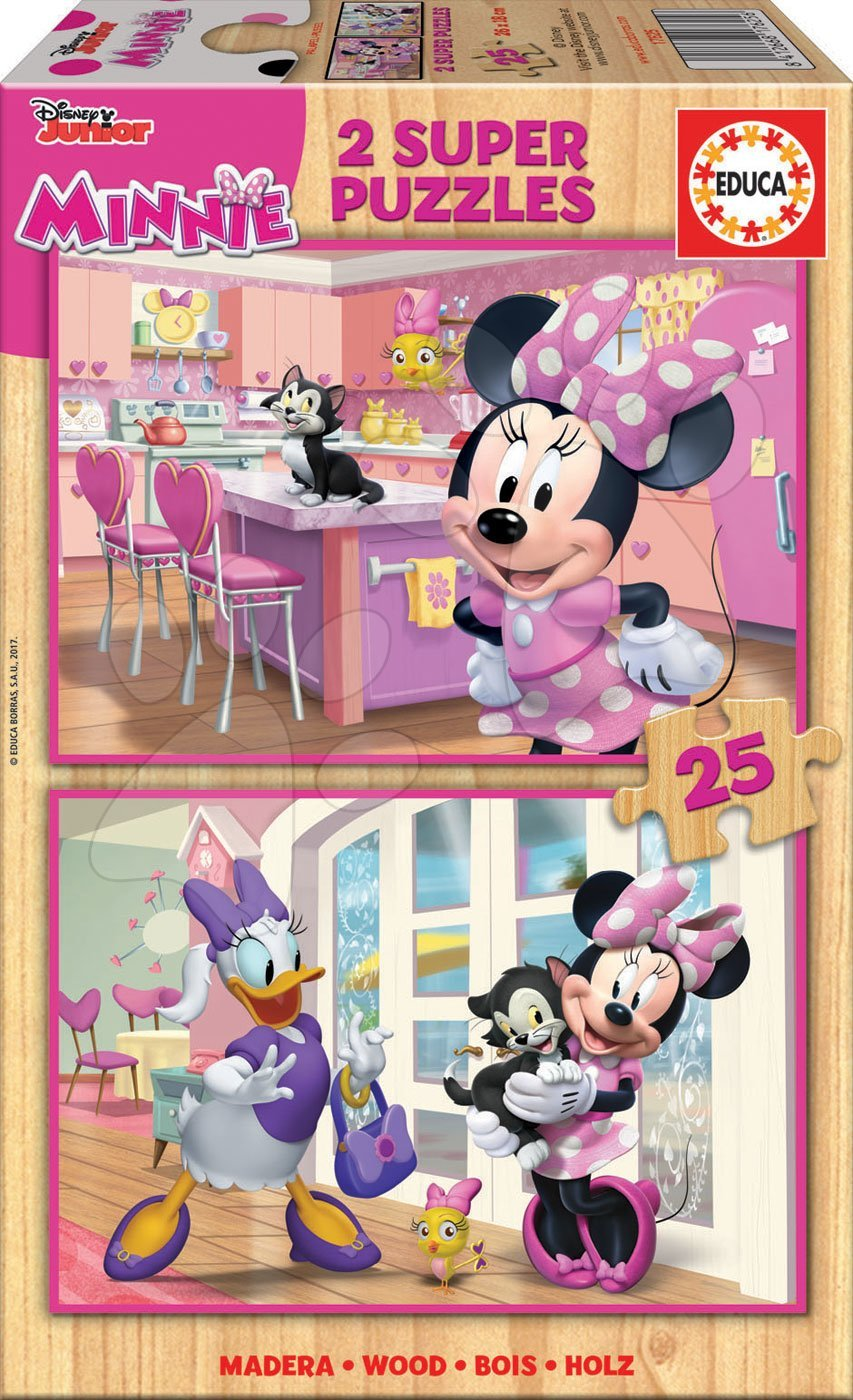 Educa drevené puzzle pre deti Minnie Happy Helpers 2x25 dielov 17625