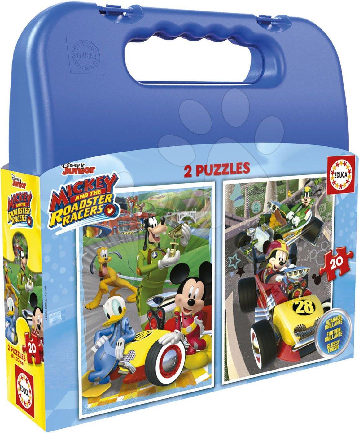 Puzzle v kufříku Mickey roadster racers Case Educa 2x20 dílů od 4 let