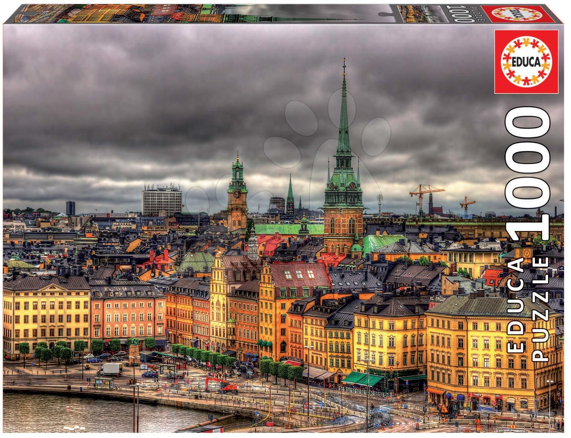 Puzzle Views of Stockholm Educa 1000 piese cu lipici Fix de la 11 ani