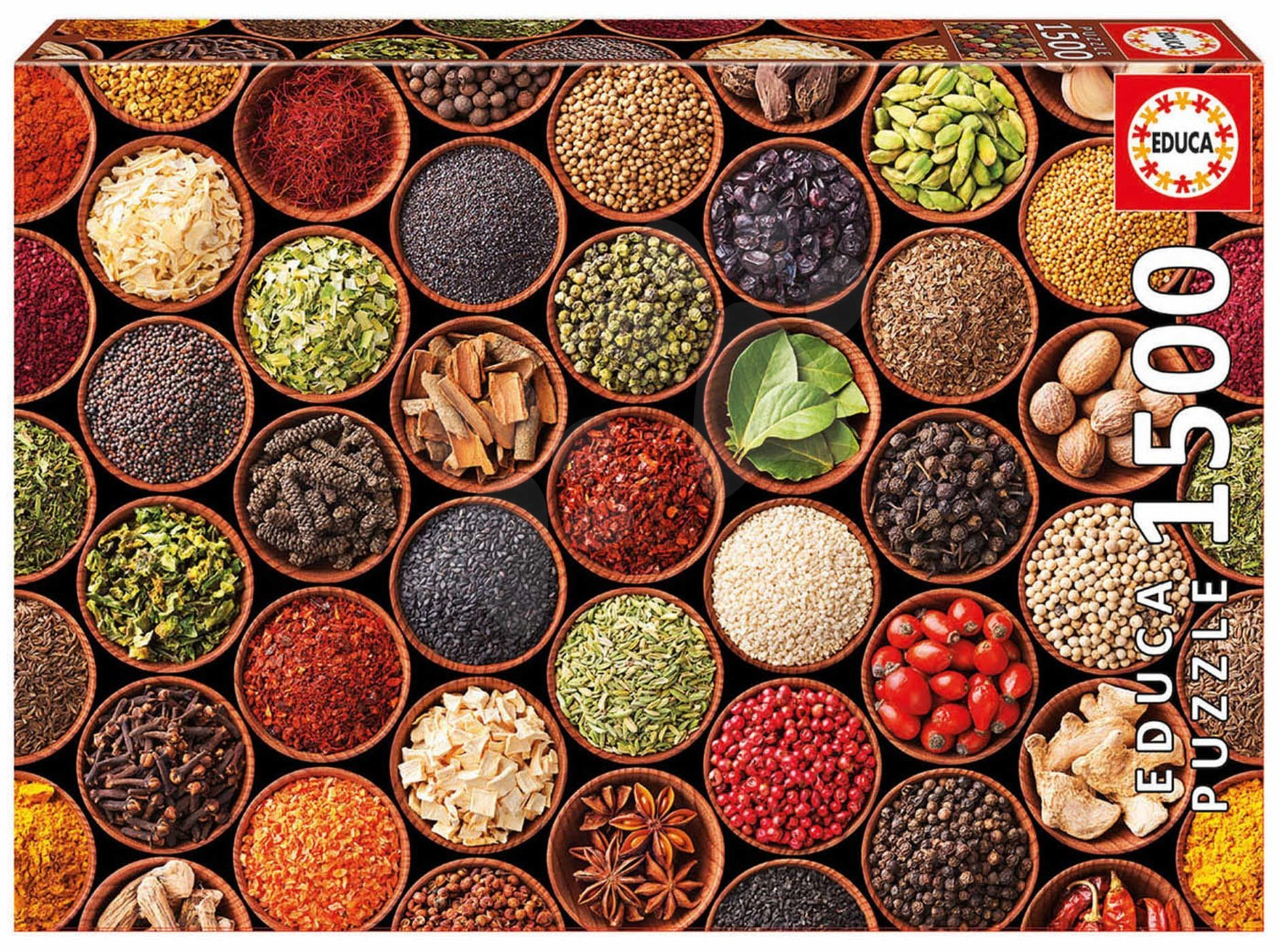 Educa puzzle Herbs and spices 1500 dielov a fix lepidlo 17666