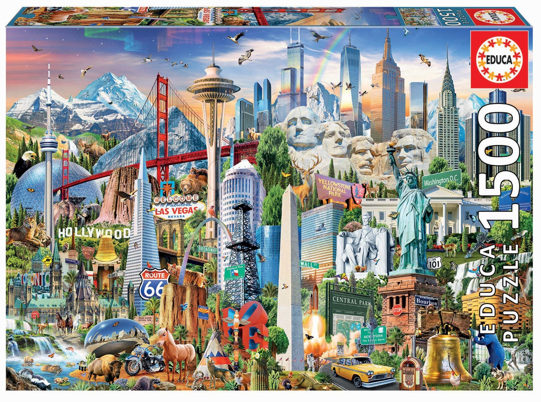 Educa puzzle Symbols from North America 1500 dielov a fix lepidlo 17670
