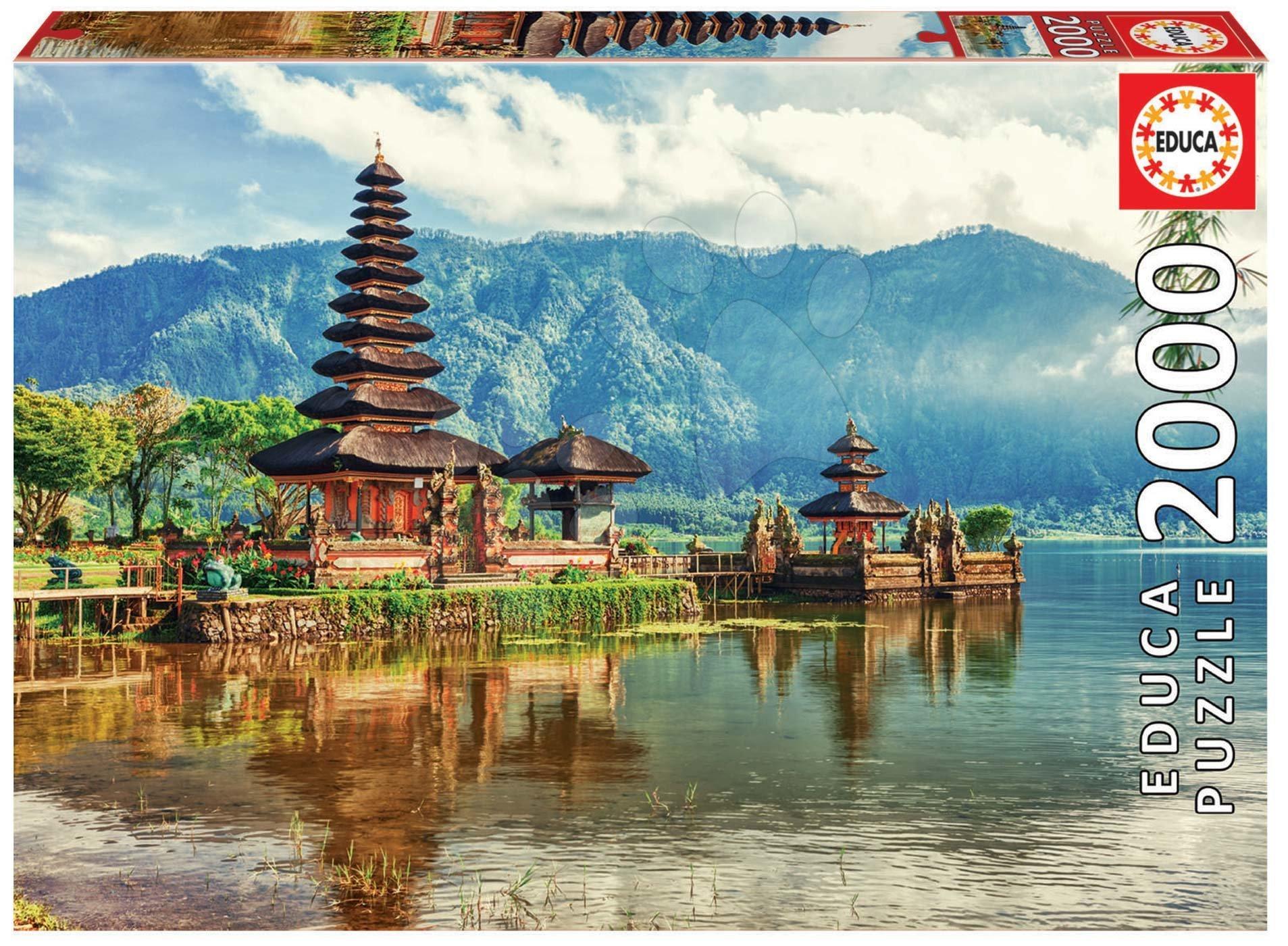 Puzzle Temple Ulun Danu, Bali Indonesia Educa 2000 dielov a Fix puzzle od 11 rokov