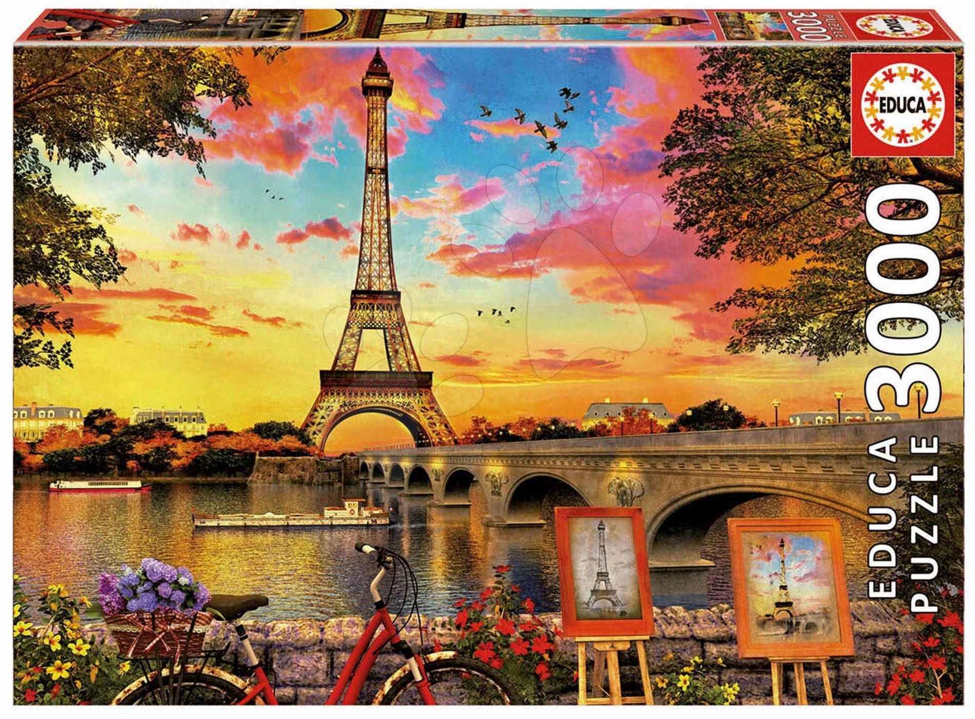 Educa puzzle Sunset in Paris Educa 3000 dielov 17675