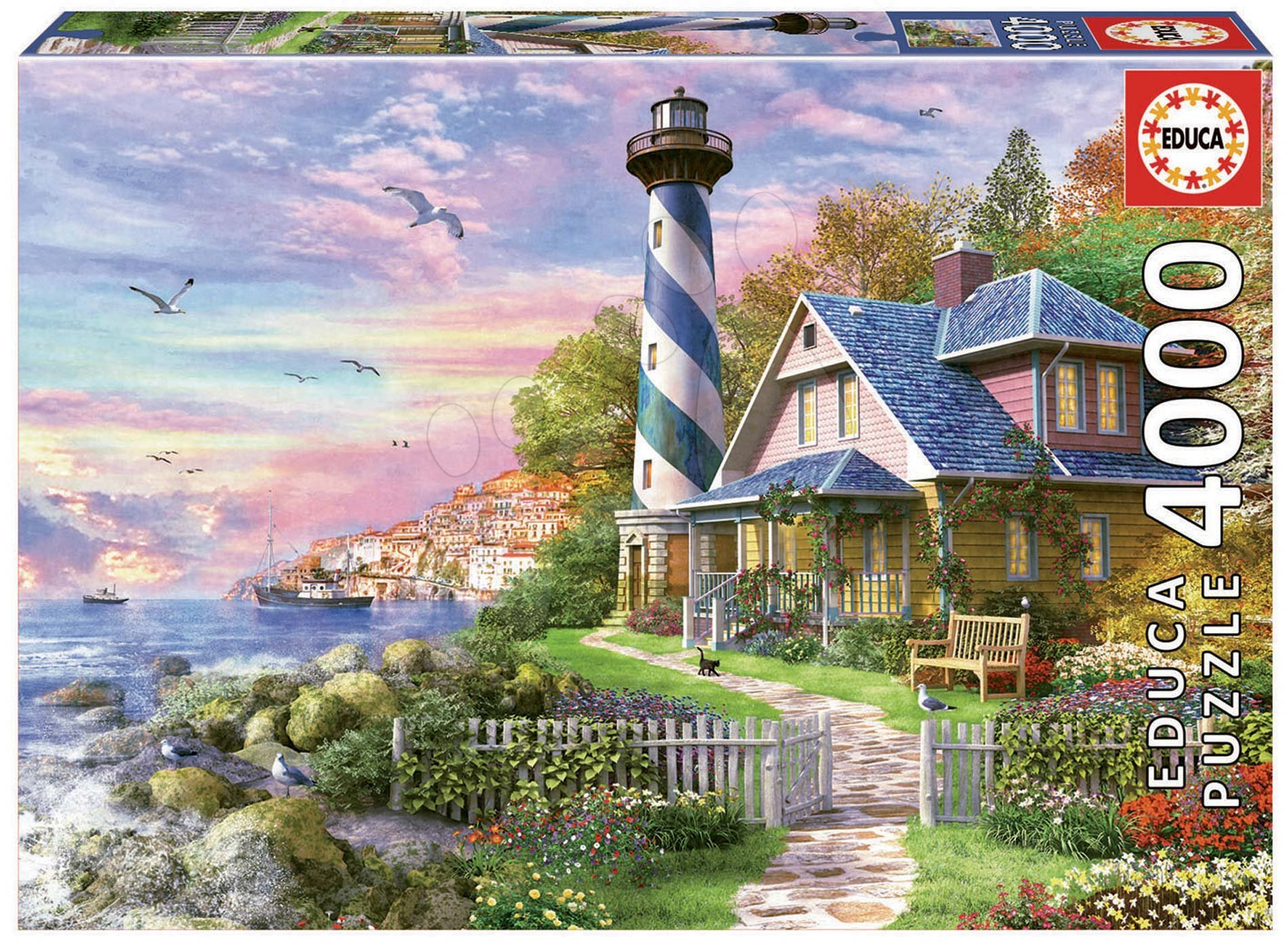 Educa puzzle Lighthouse at Rock Bay 4000 dielov 17677