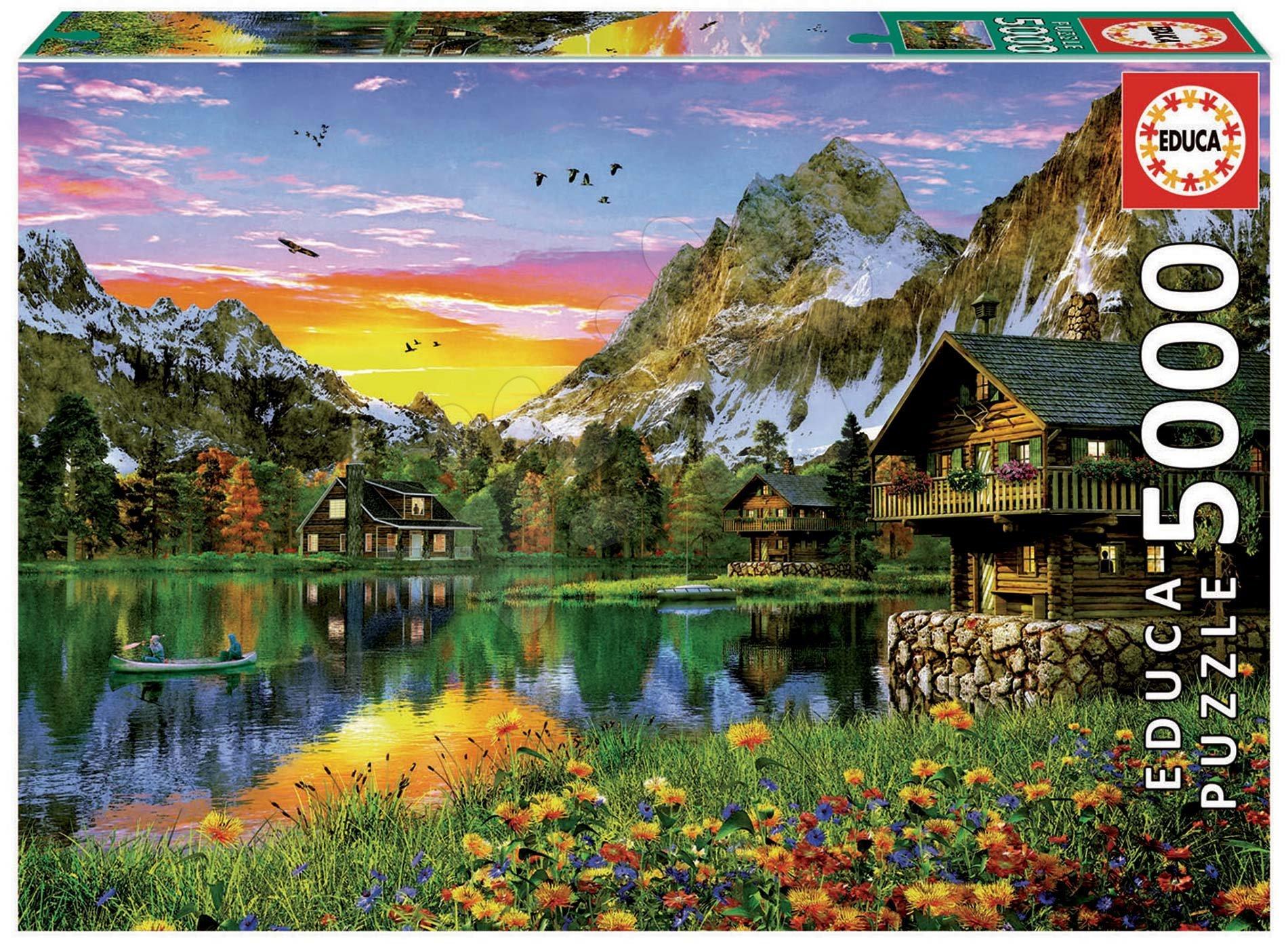 Puzzle Alpine lake Educa 5000 dielov od 11 rokov