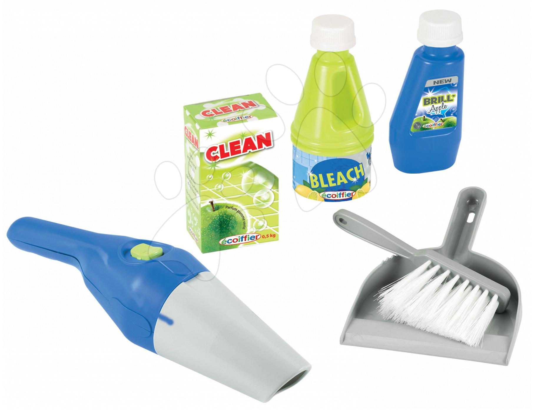 Úklidová souprava Clean Home Écoiffier 6 dílů modro-zelená
