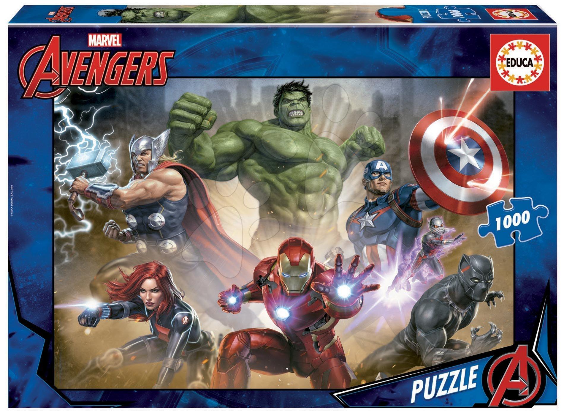 Puzzle The Avengers Educa 1000 piese cu lipici Fix puzzle de la 11 ani