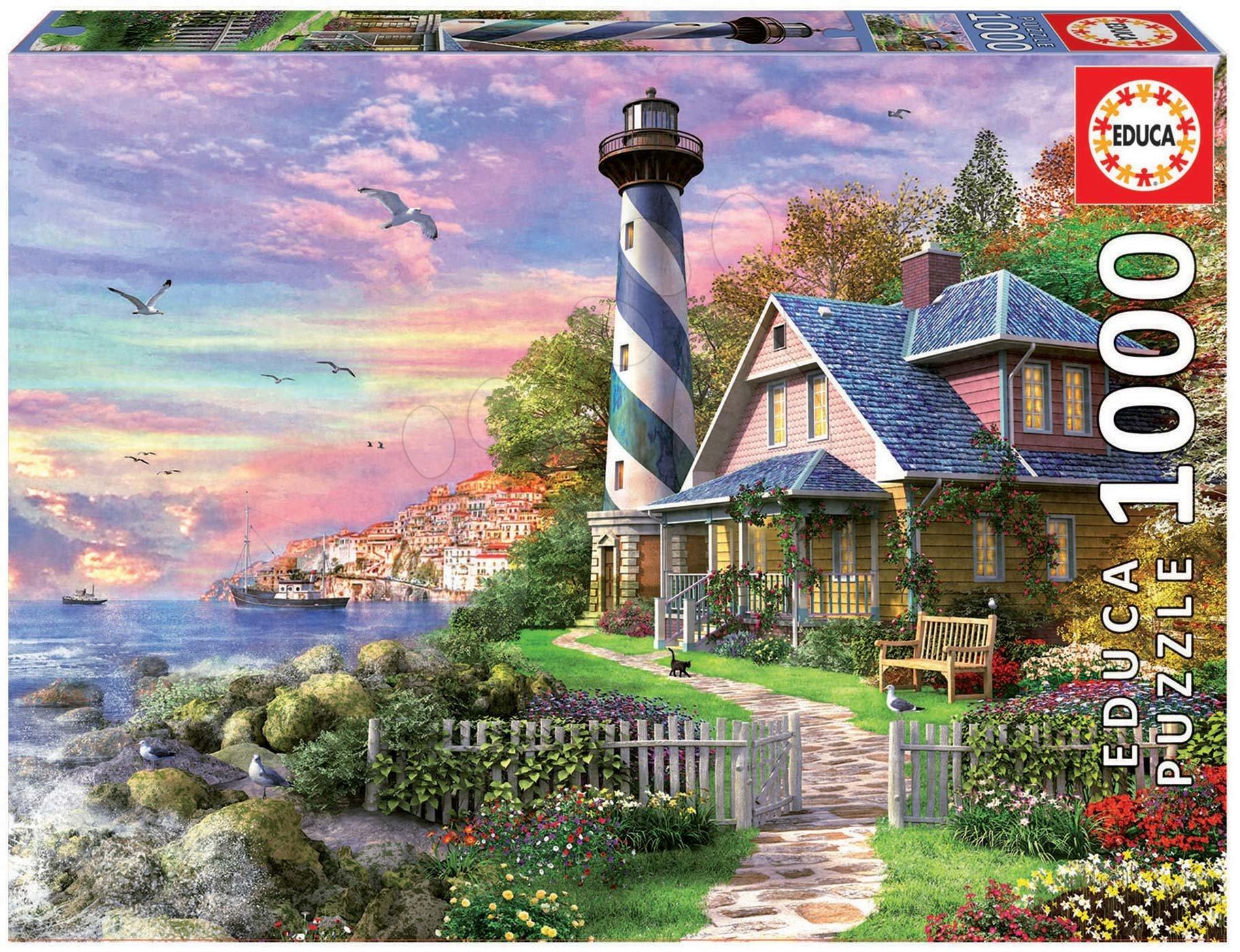 Puzzle Lighthouse at Rock Bay Educa 1000 piese cu lipici Fix de la 11 ani