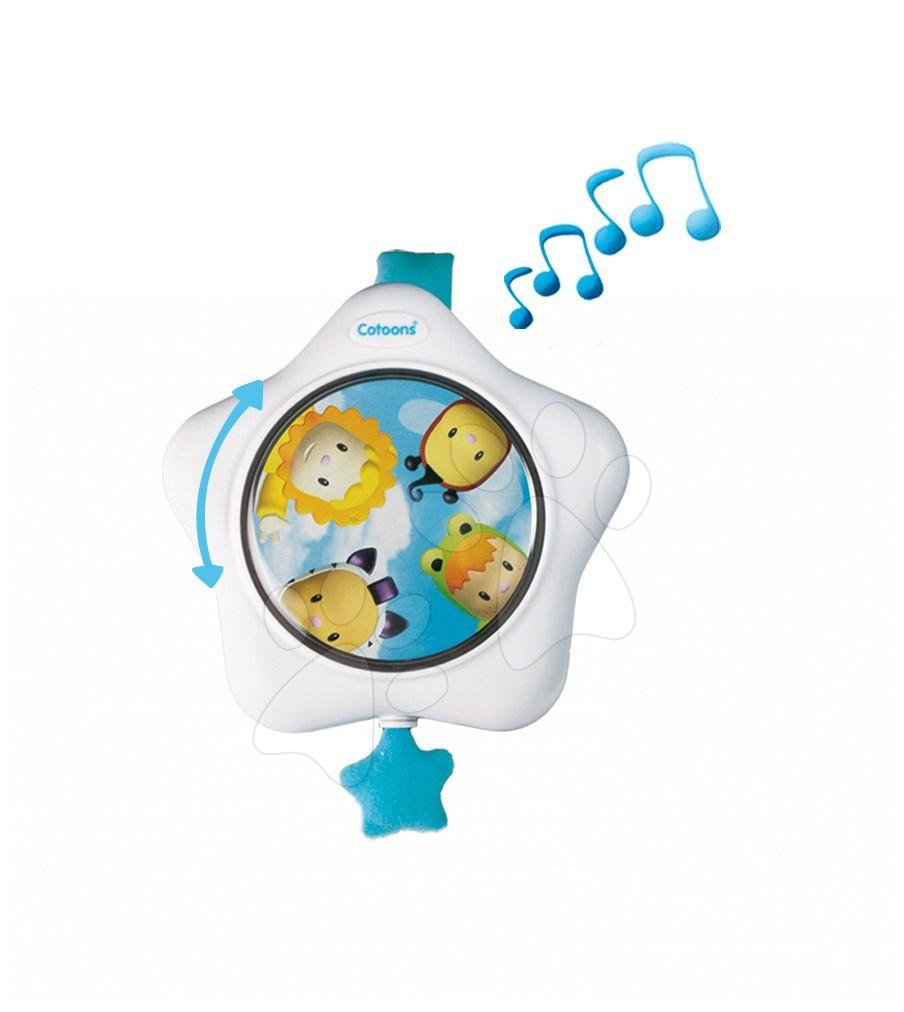 Zpívající hvězda do postýlky Cotoons Smoby modrá pro kojence