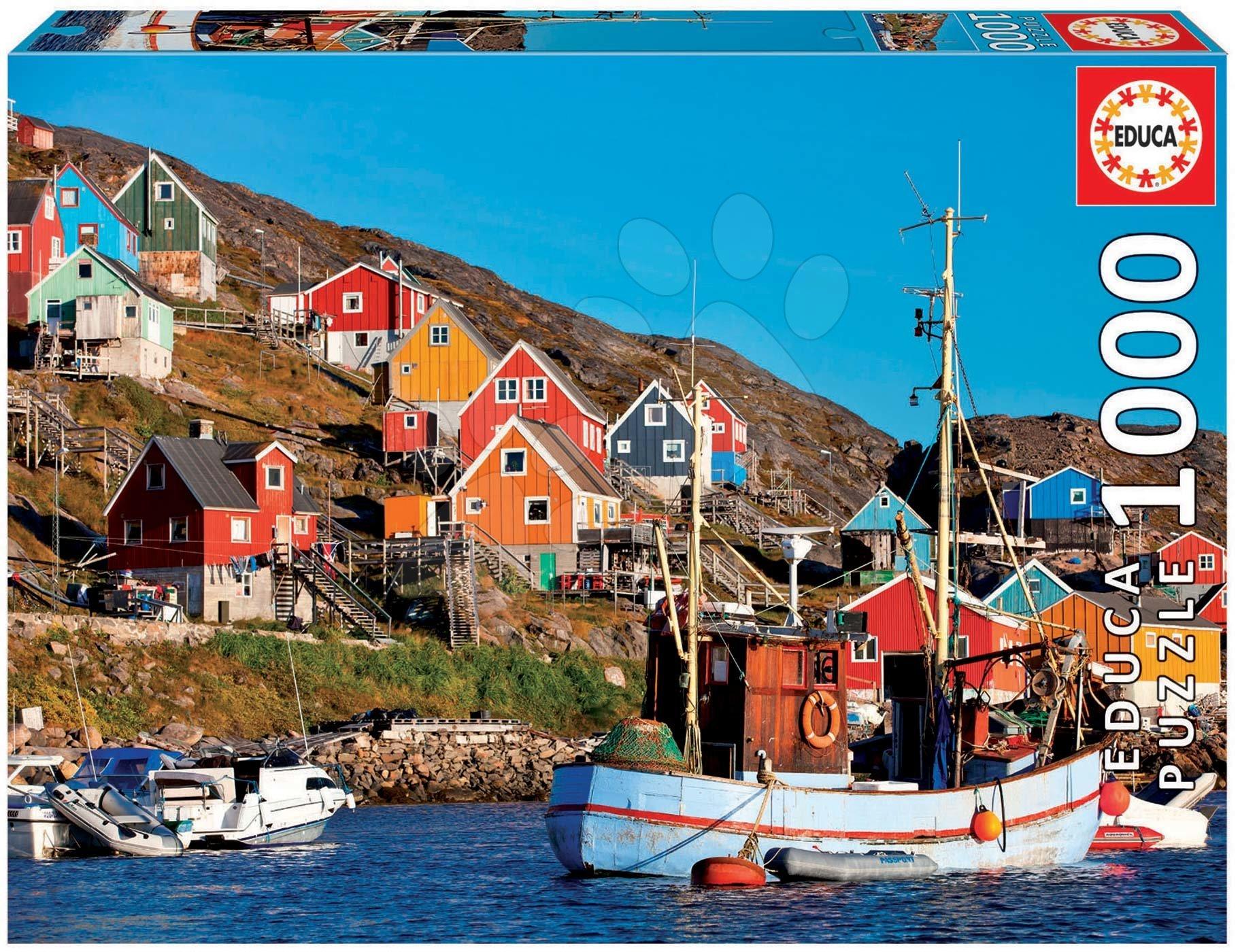 Puzzle Nordic houses Educa 1000 piese cu lipici Fix de la 11 ani